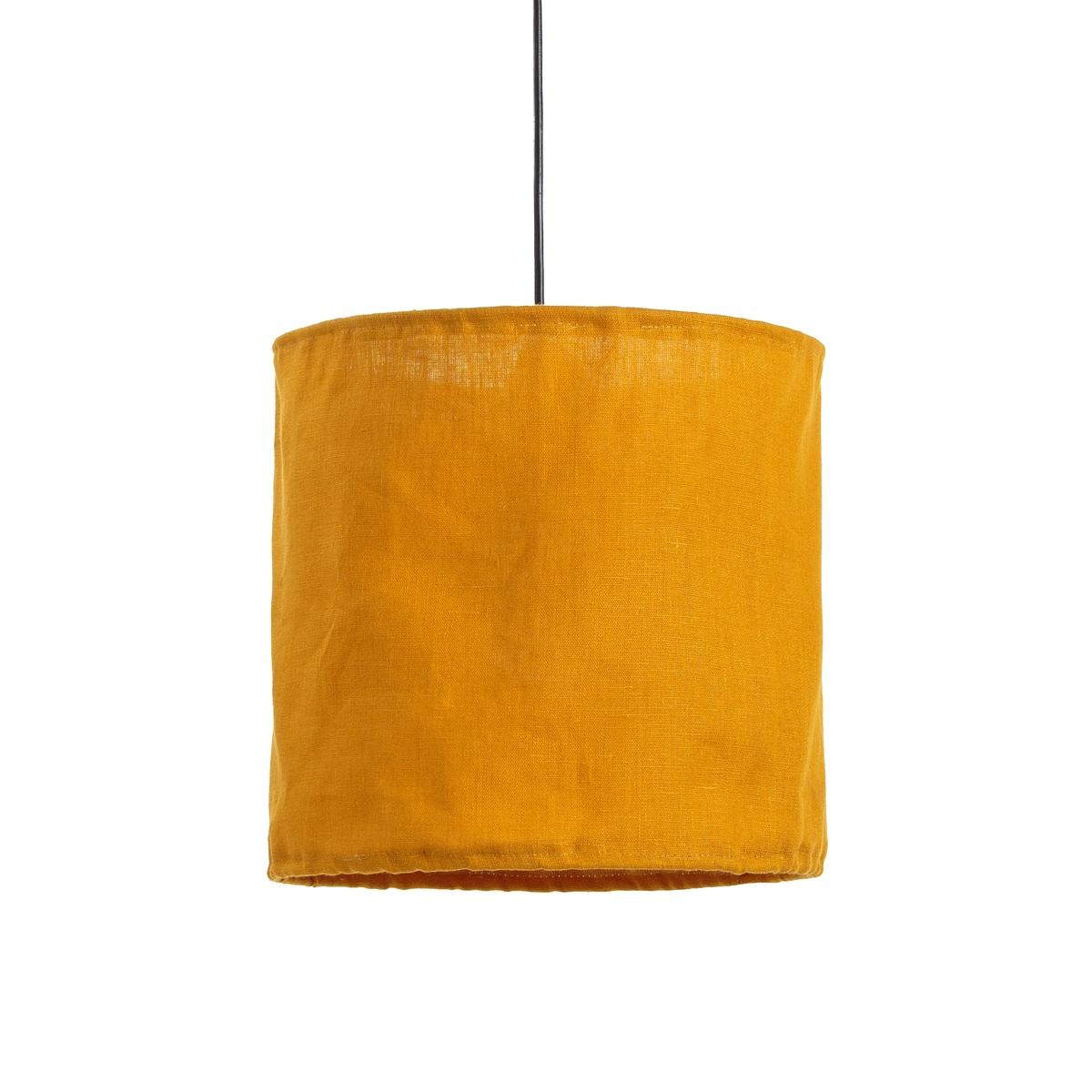 Светильник La Redoute Из жатого льна THADE единый размер каштановый светильник из жатого льна thade