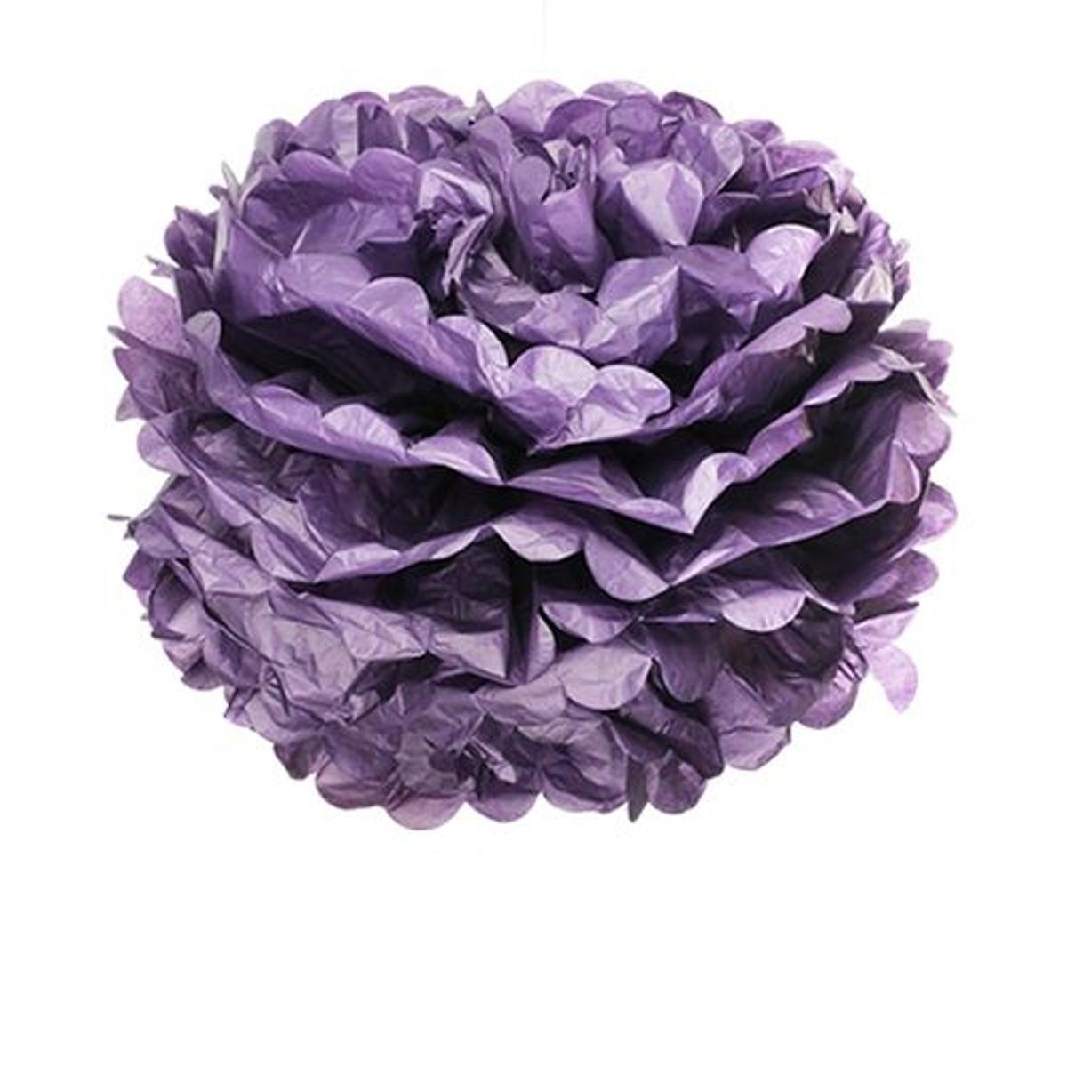 Pompons Violet Foncé 50cm x2
