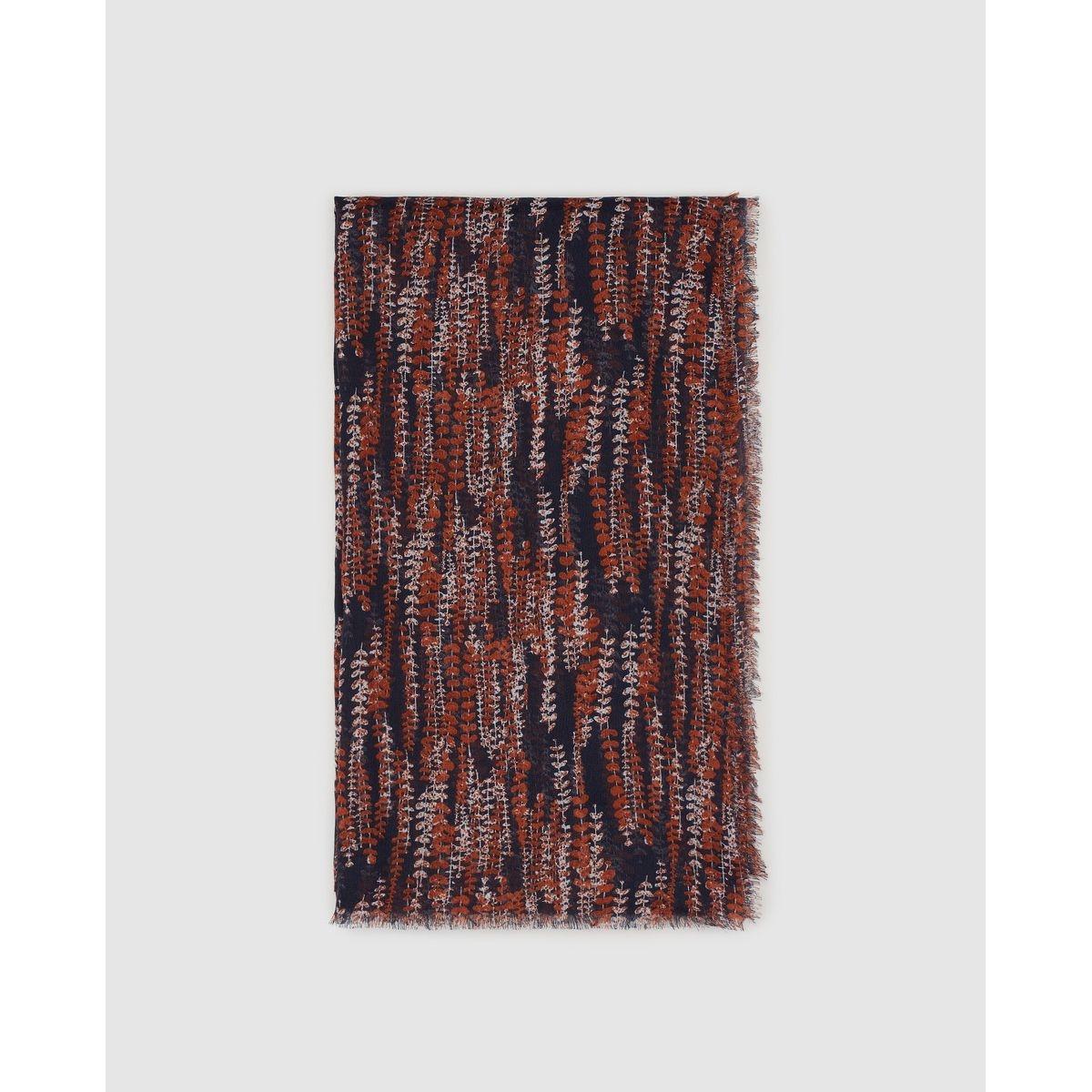 Foulard Southern Cotton à imprimé tons chauds