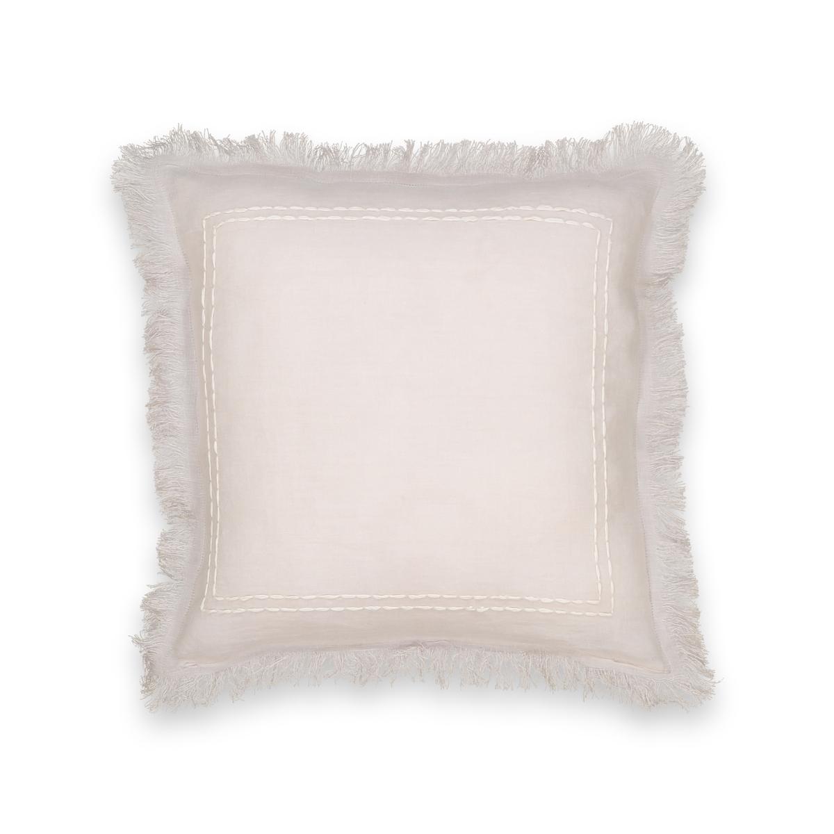 Чехол La Redoute На подушку-валик с ручной вышивкой Domitien 40 x 40 см розовый чехол la redoute на подушку или подушку валик из хлопка scenario 40 x 40 см серый