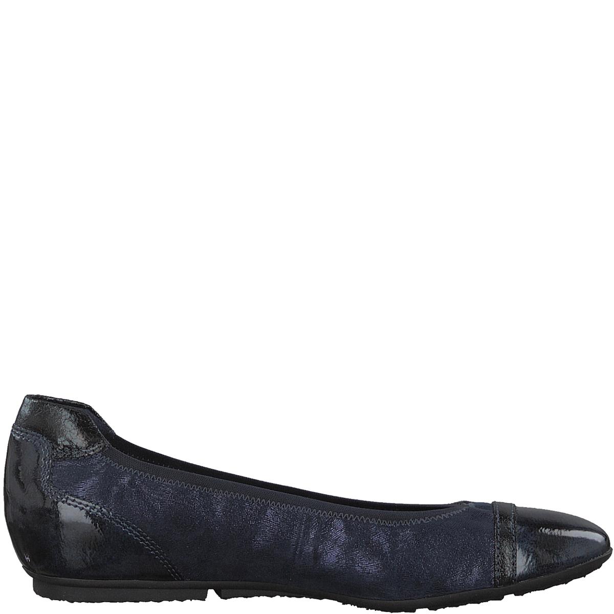 Балетки JoyaДетали •  Высота каблука : 1 см. •  Круглый мысок •  Застежка : без застежкиСостав и уход •  Верх  50% синтетического материала, 50% текстиля •  Подкладка 50% кожи, 50% текстиля<br><br>Цвет: синий морской,черный