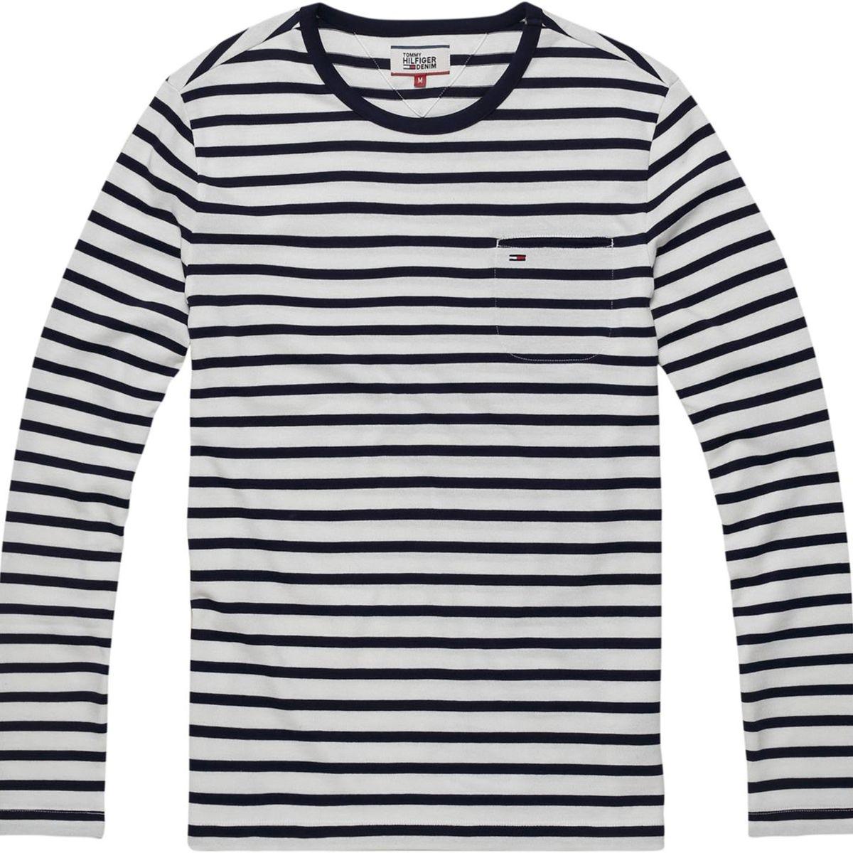 Tee-shirt col rond à rayure