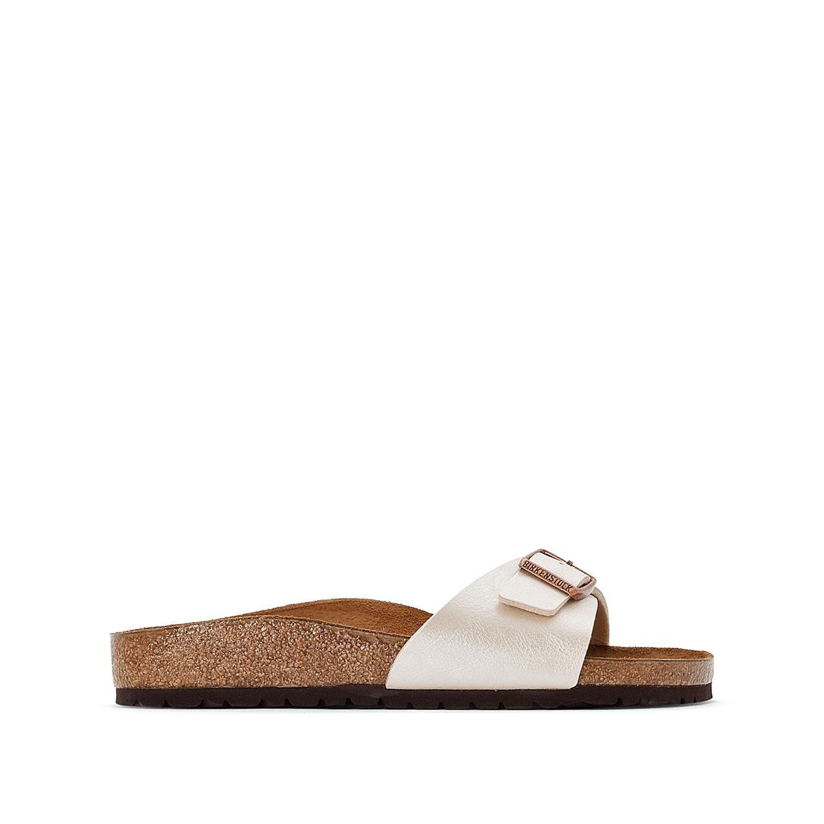 цена Туфли La Redoute Без задника с открытым мыском Madrid 37 белый онлайн в 2017 году