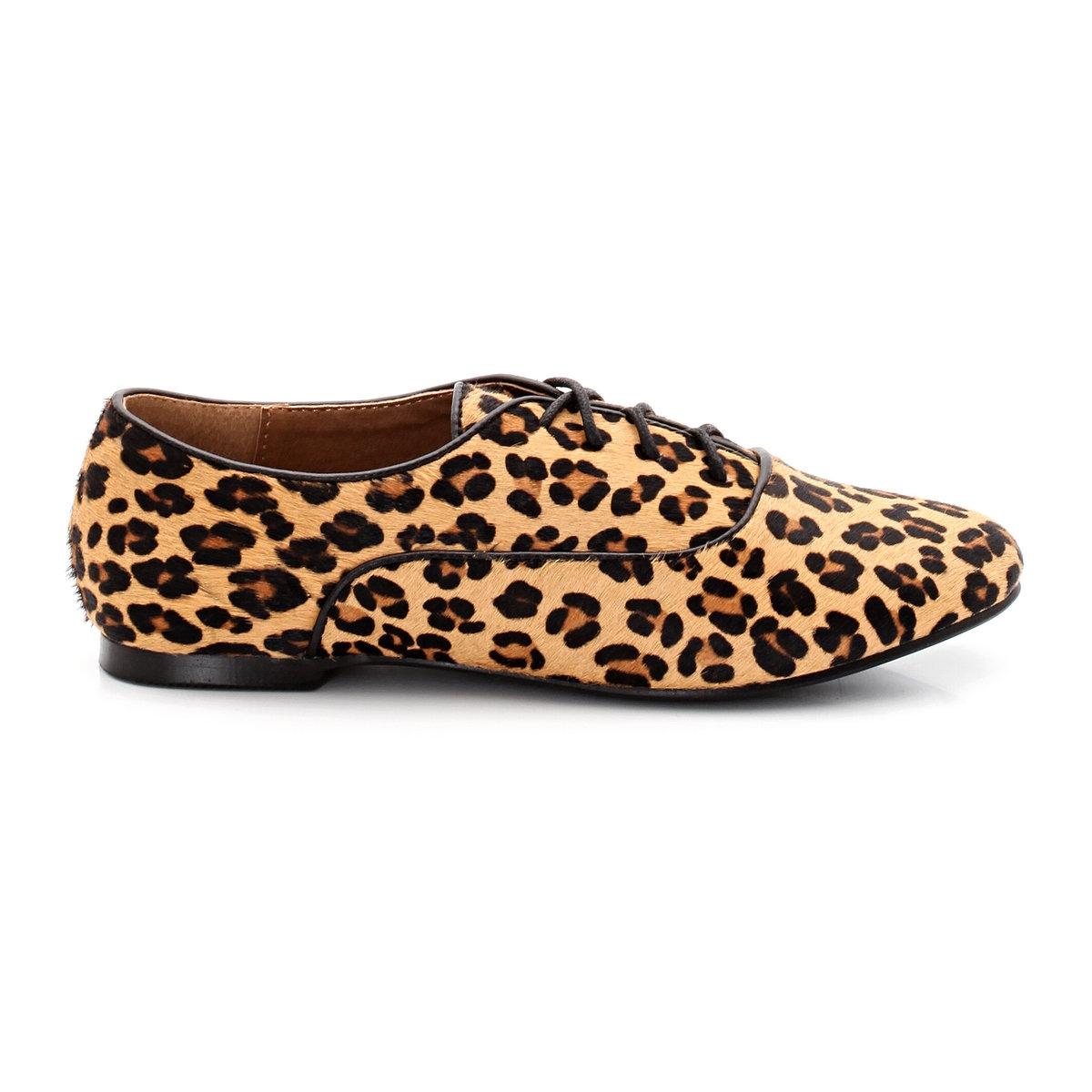 Ботинки-дерби из кожиБотинки-дерби от: LAURA CL?MENT. Верх: ворсистая коровья кожа с принтом. Подкладка: кожа. Стелька: кожа. Подошва:  из эластомера. Застежка: на шнуровке.<br><br>Цвет: леопард<br>Размер: 42