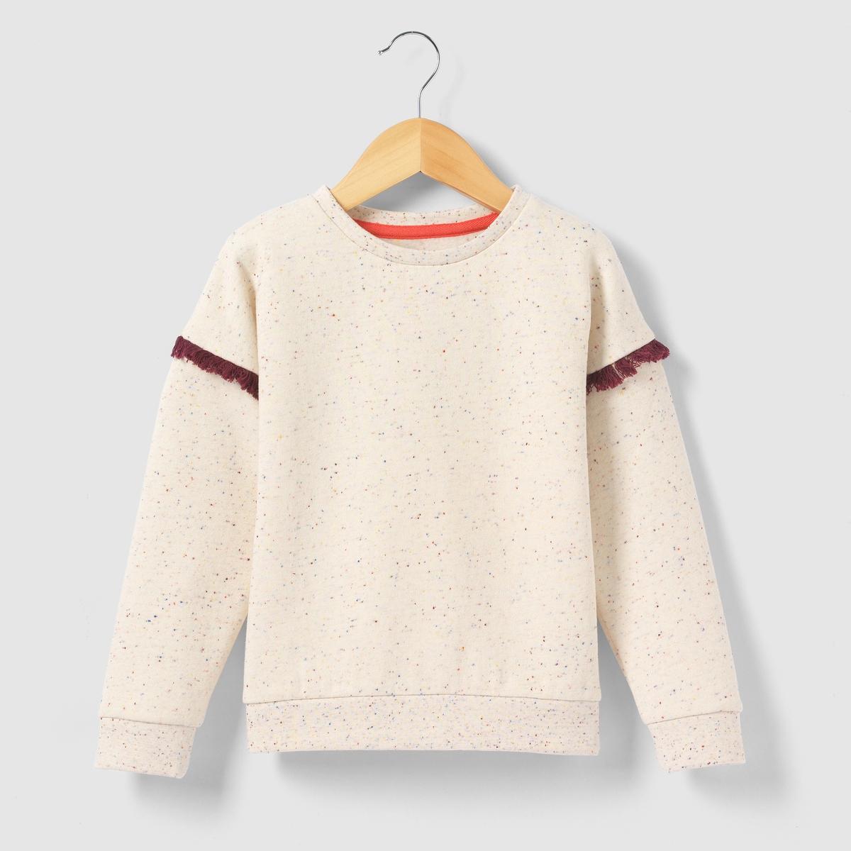 Пуловер из мольтона в крапинку, 3-12 лет