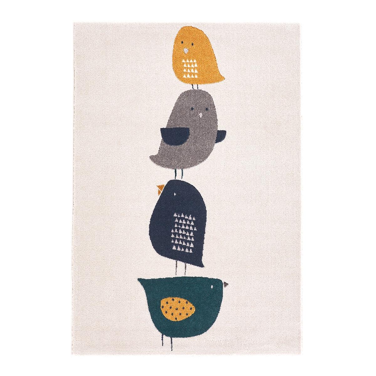 Коврик LaRedoute Детский с рисунком птицы Pida 120 x 170 см разноцветный