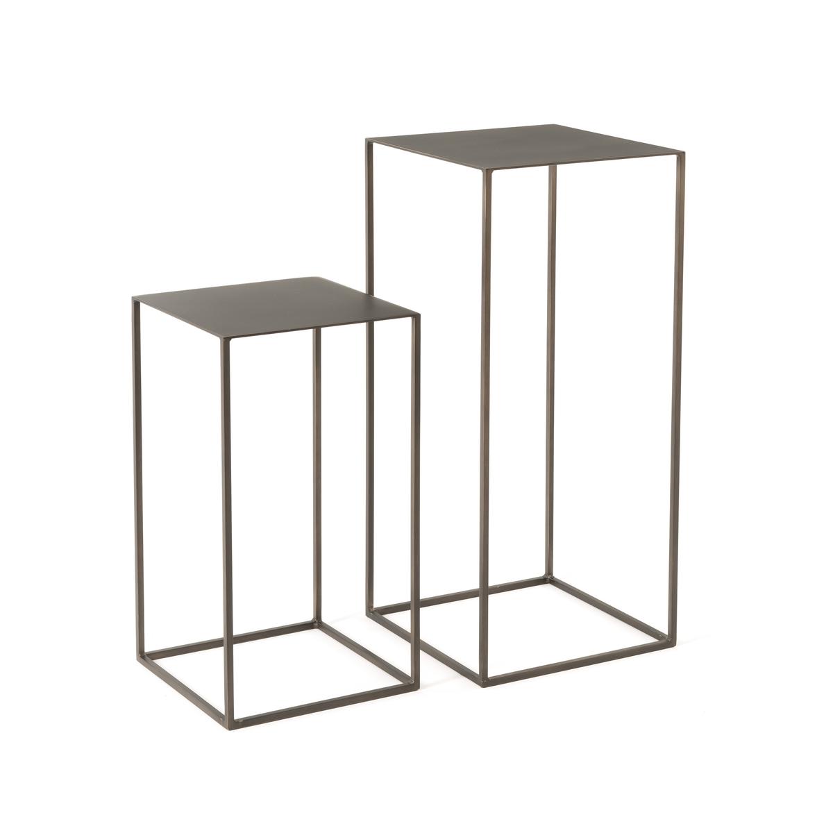 2 скамьи составные из металла Omyxie2 скамьи Omyxie . Изысканный современный дизайн, утонченное и легкое исполнение .Характеристики : - Металл с состаренным эффектом - Доставляются в собранном виде. Размеры: - Ш.34 x В.74 x Г.34 см - Ш.30 x В.54 x Г.30 см<br><br>Цвет: темно-серый металл