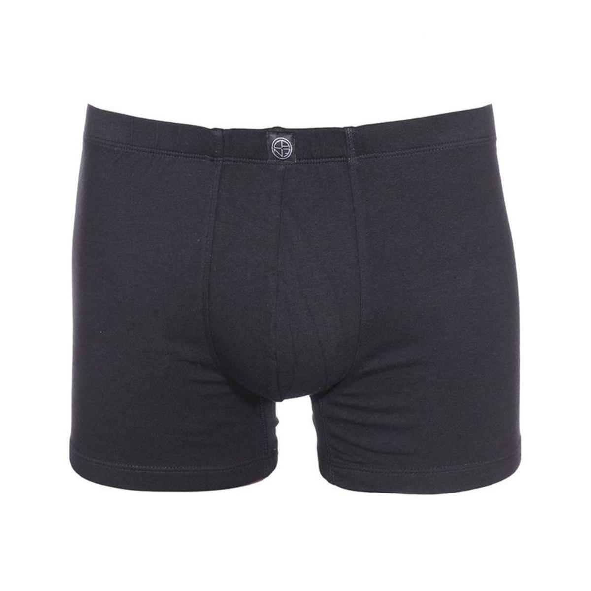 Boxer Bastia   en coton stretch noir coton