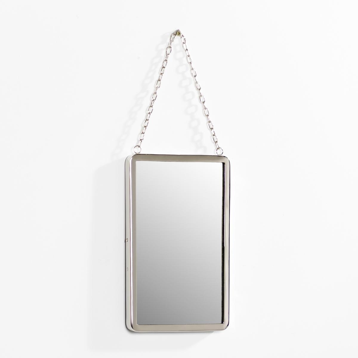 Зеркало прямоугольное, маленькая модель Д17,5 см, BarbierЗеркало в старинном стиле. Характеристики: :- Рамка из никелированной латуни . - Цепочка-подвеска из металла с никелевым покрытием   . Размеры  : - Ширина. 17,5 x выс. 27,2 см.<br><br>Цвет: безцветный