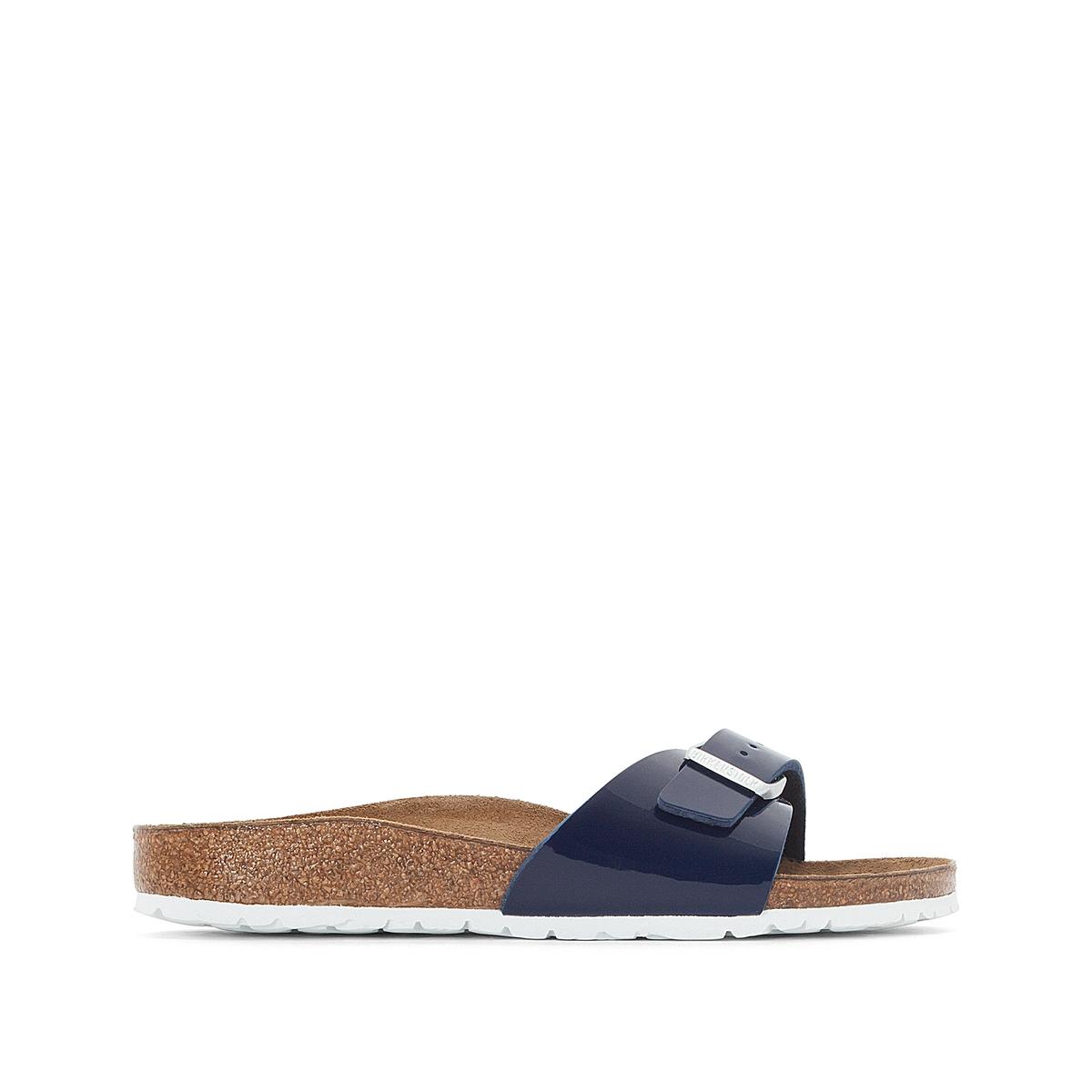 Туфли без задника лакированные MADRIDВерх : синтетический материал (Birko-Flor)                 Подкладка : фетр               Стелька : велюровая кожа               Подошва : ЭВА               Застежка : без застежки<br><br>Цвет: синий лак