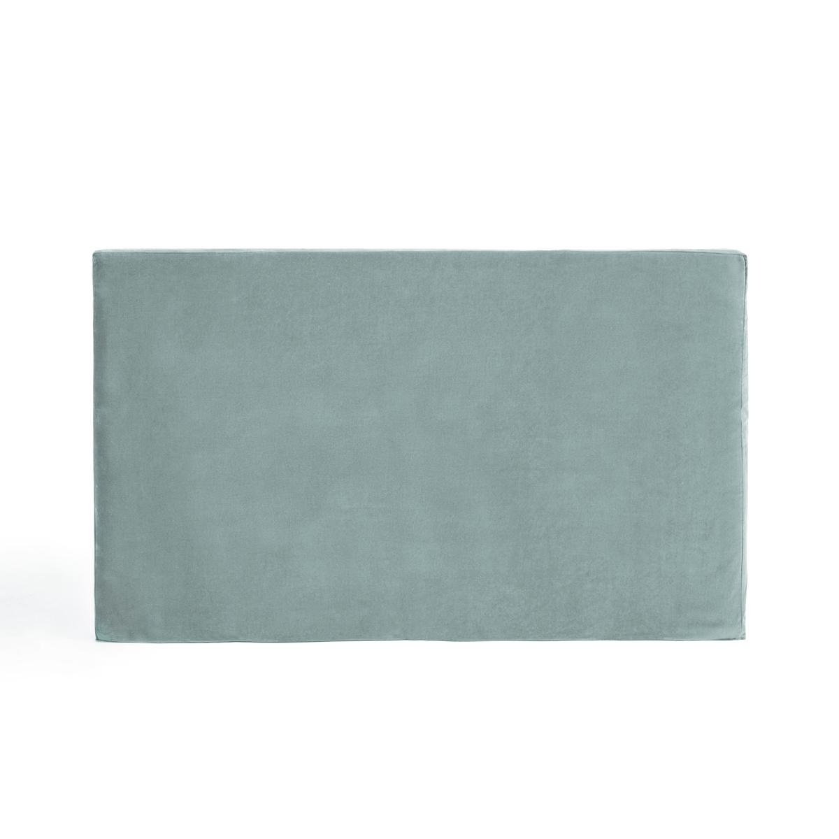 Чехол LaRedoute Для изголовья кровати из велюра Velvet 90 x 85 см зеленый