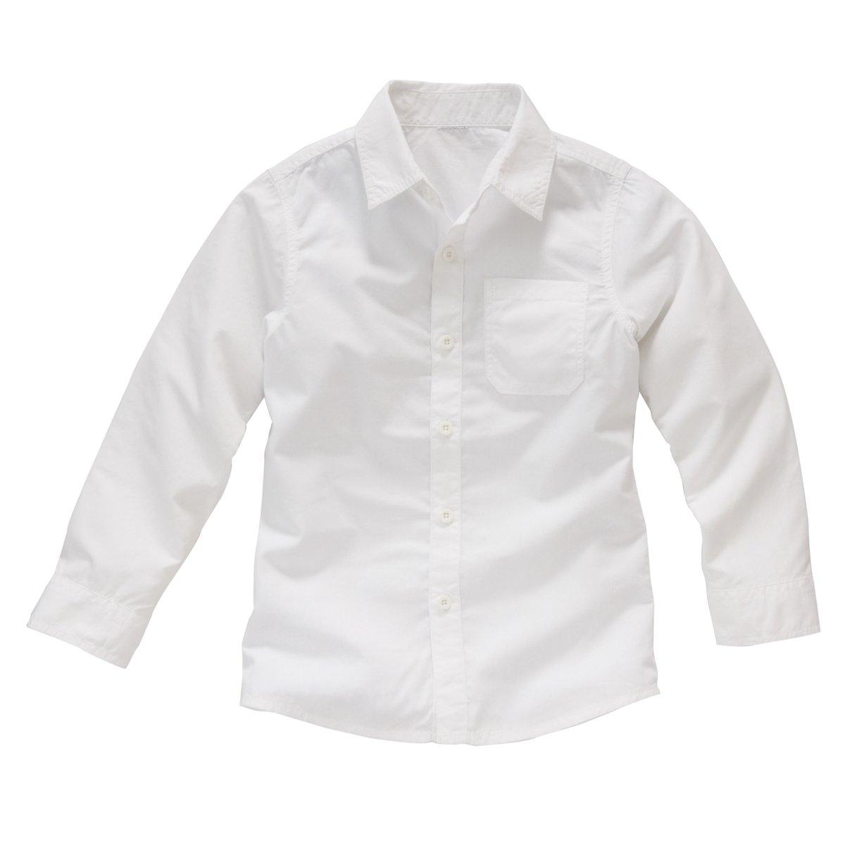 Рубашка однотонная, 3-12 лет