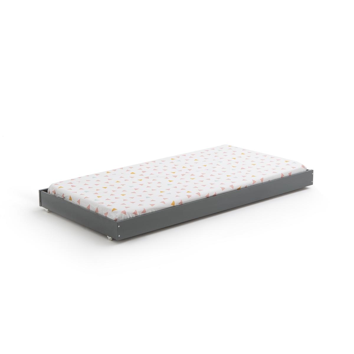 Ящик-кровать LaRedoute На колесиках Maysar единый размер серый матрас laredoute с поролоном для кровати ящика 90 x 180 x 12 красный