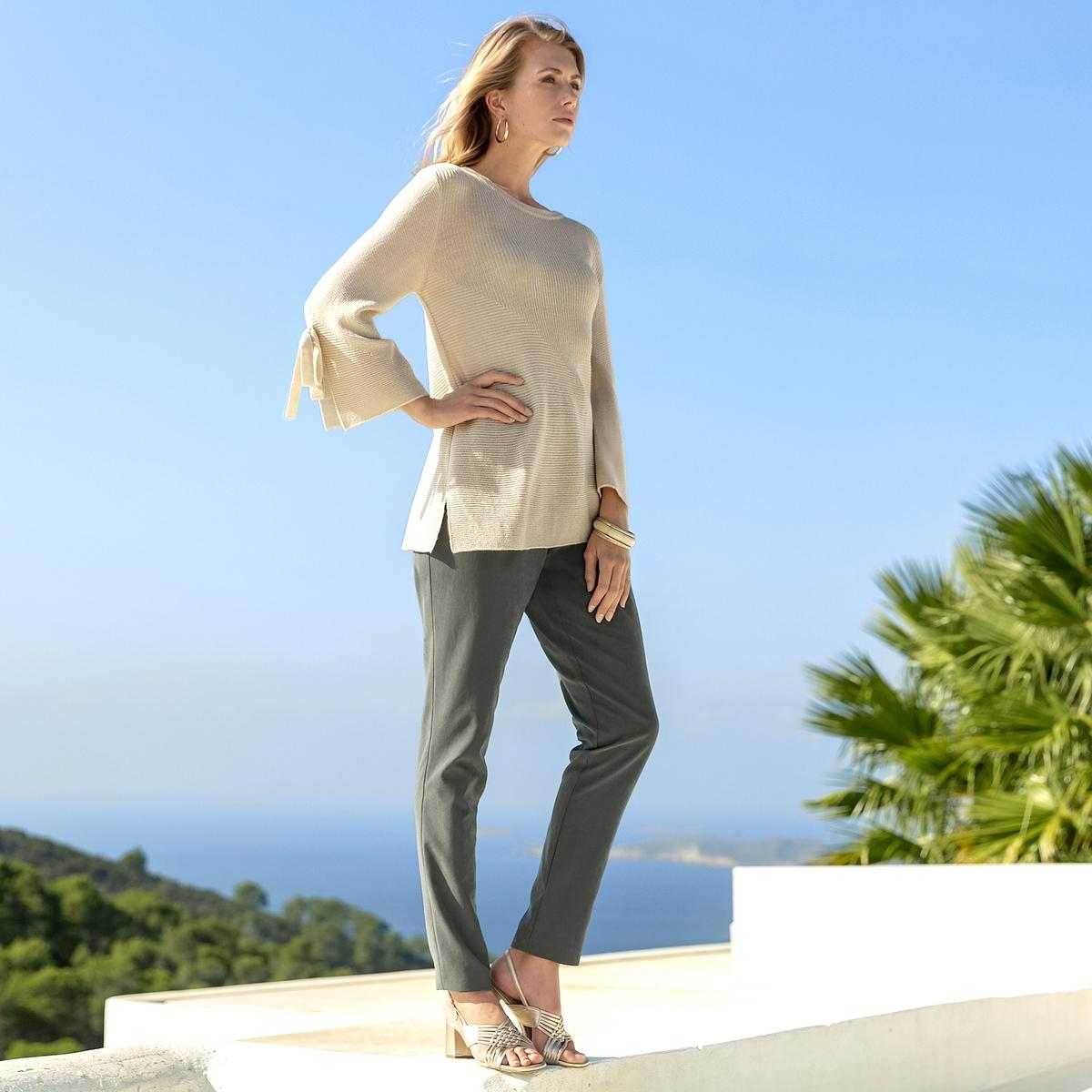Imagen principal de producto de Jersey con cuello redondo de punto fino, de mezcla de lana - Anne weyburn