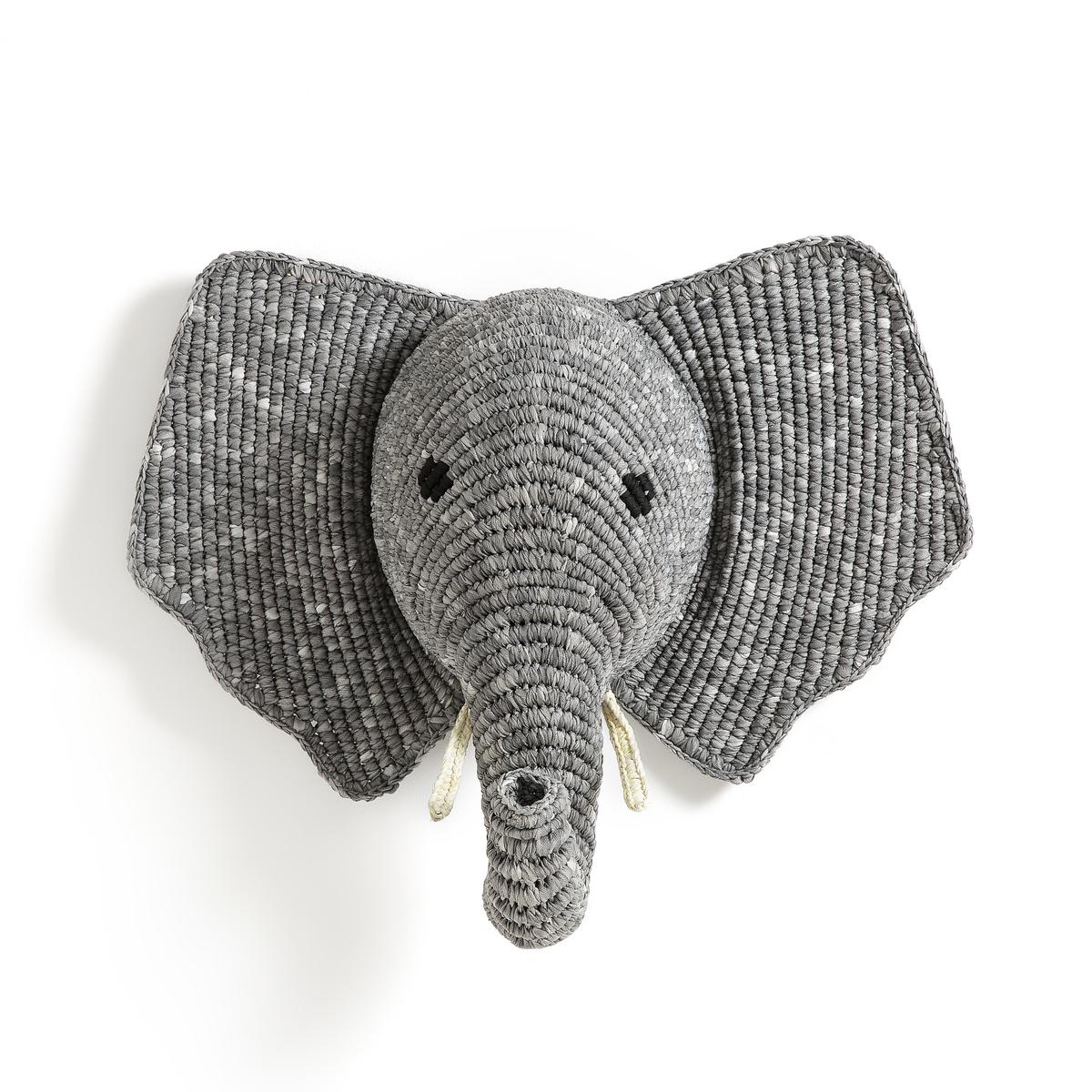 Голова La Redoute Слона настенное украшение Lapilli единый размер серый