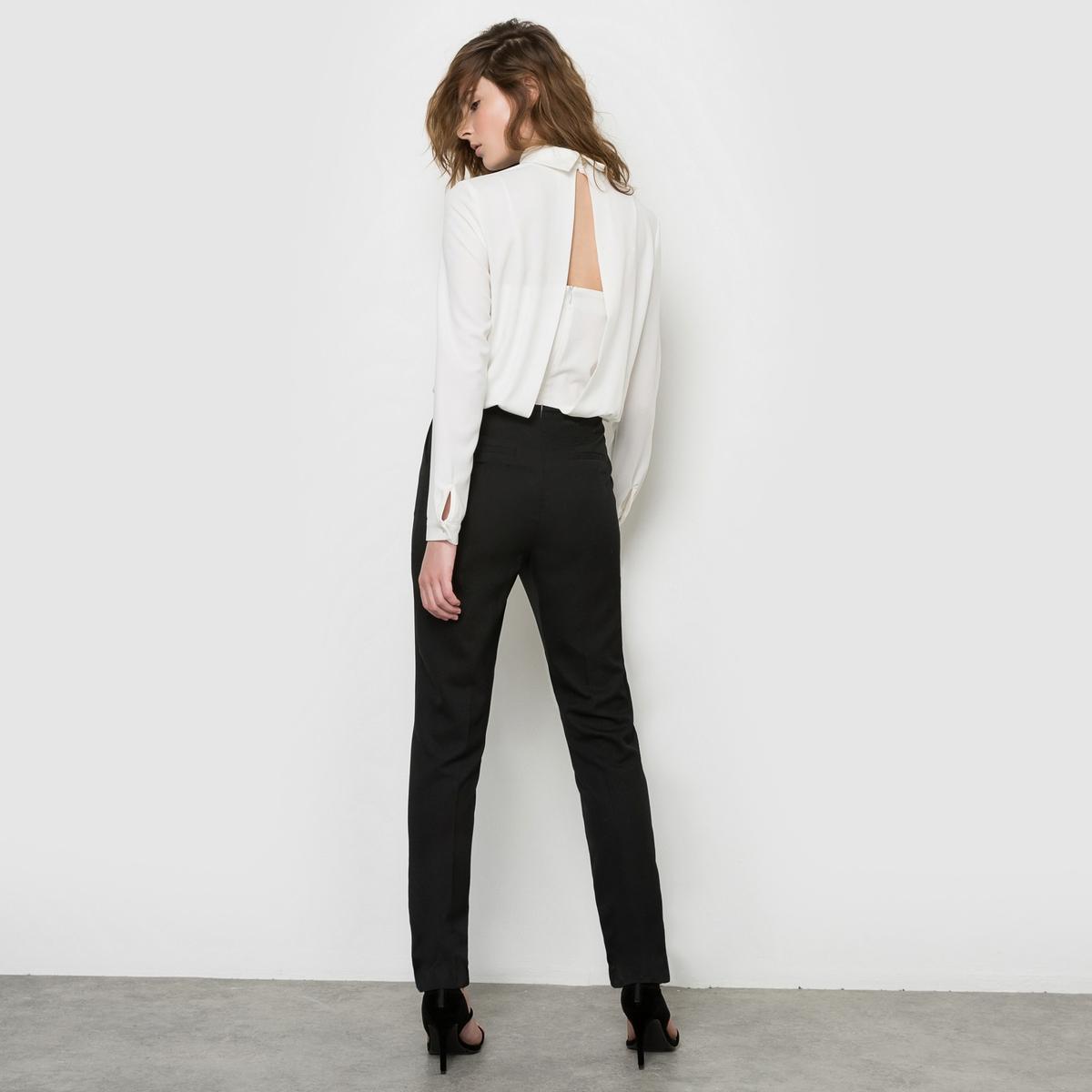 Комбинезон с брюками двухцветный с красивой спинкой
