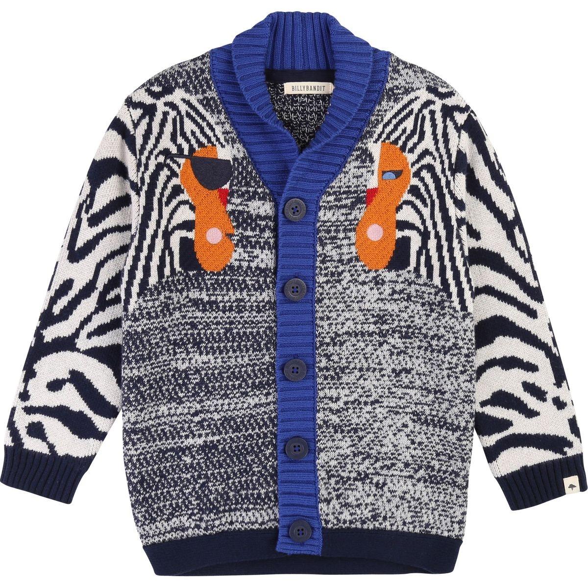 Cardigan tricot jacquard