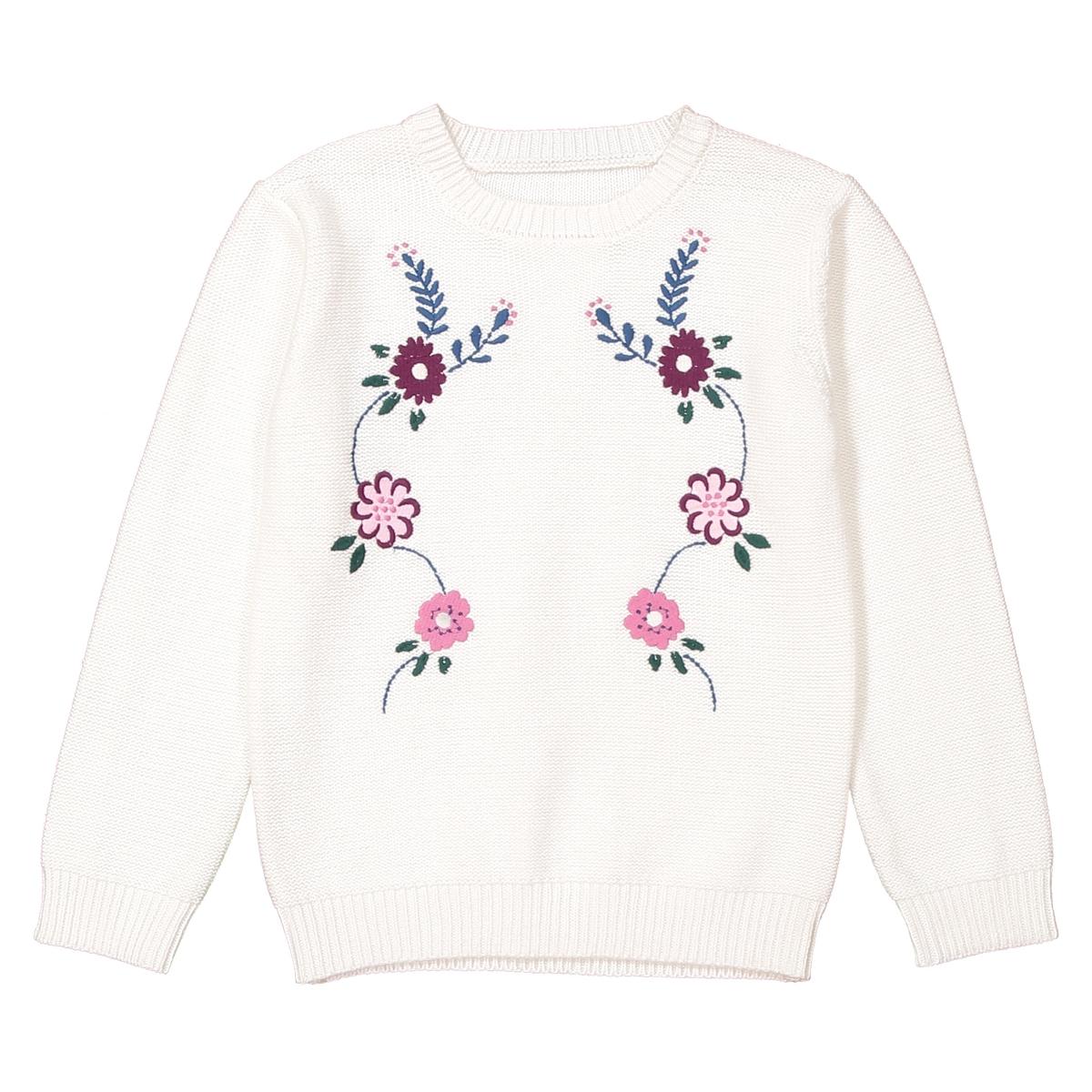 Пуловер из тонкого трикотажа с вышивкой, 3-12 лет пуловер с вышивкой petite cherry 3 12 лет