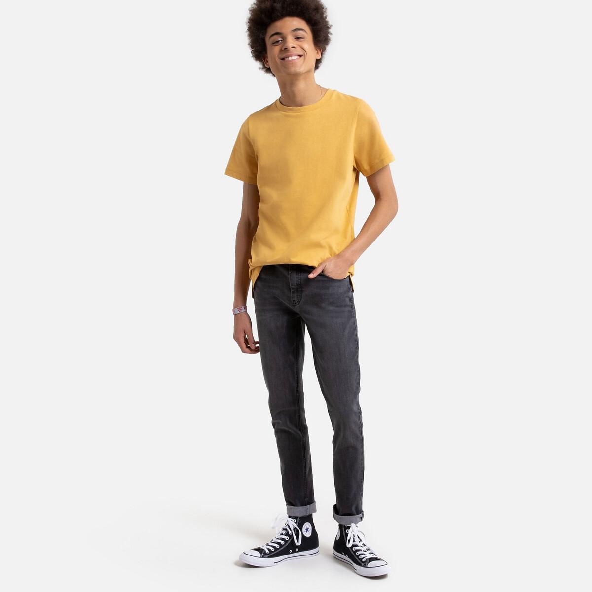 Фото - Джинсы LaRedoute Скинни 10-16 лет 10 черный джинсы laredoute скинни длина 30 s черный