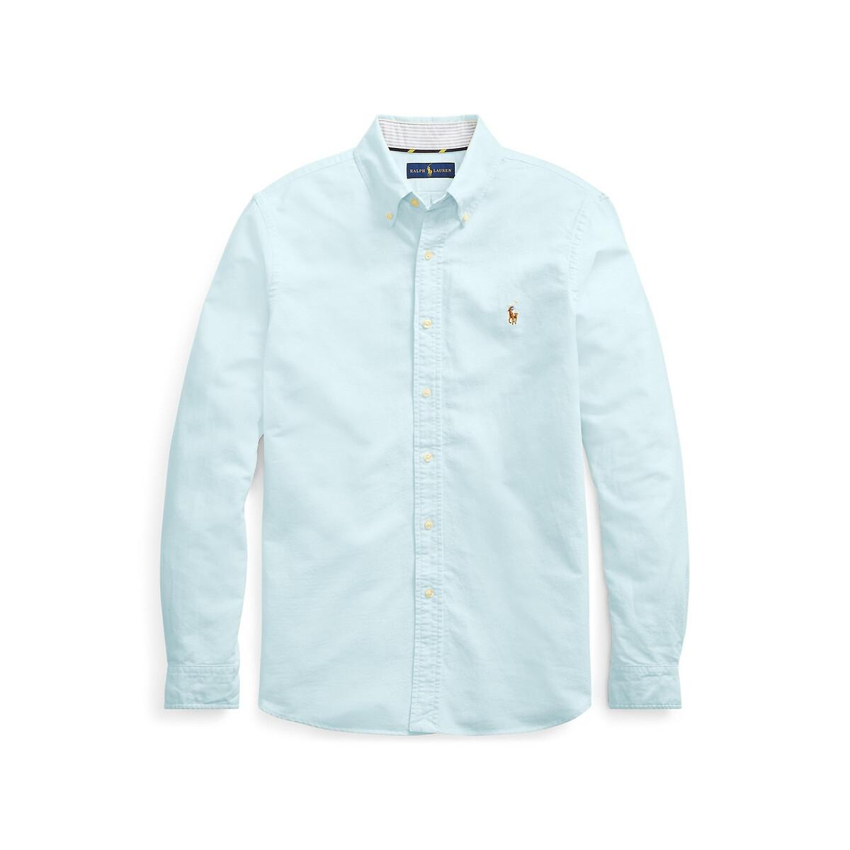 Рубашка LaRedoute Прямого покроя из ткани оксфорд M синий