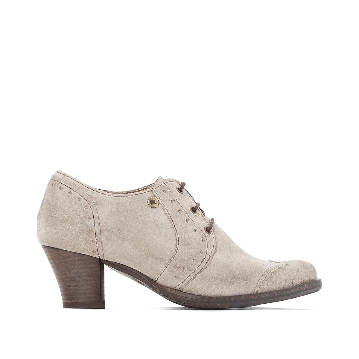 Ботинки-дерби кожаные на каблуке Ventura цены онлайн