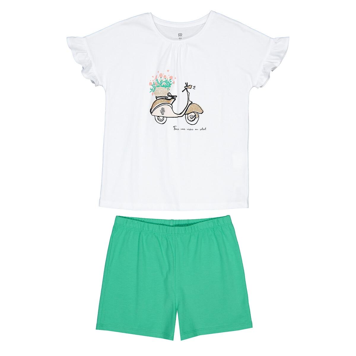Пижама LaRedoute Из биохлопка 3-12 лет 4 года - 102 см белый