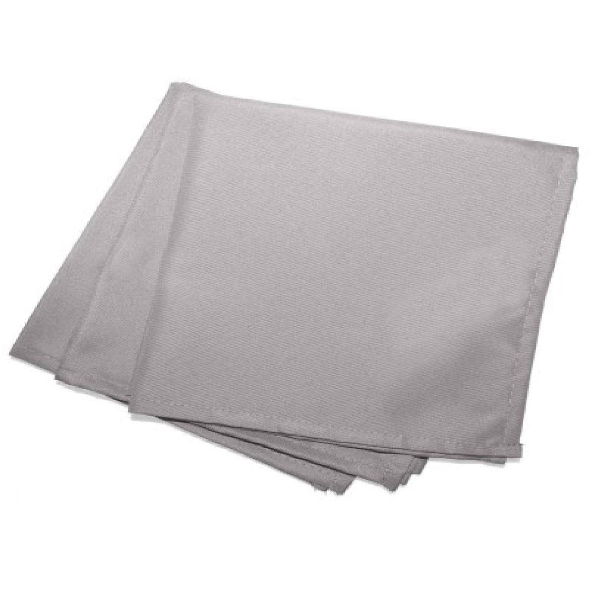 3 Serviettes de table  40 x 40 cm gris