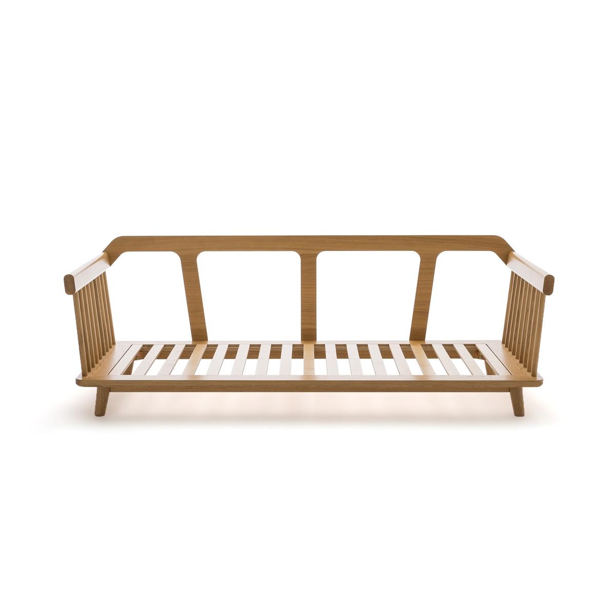 Кровать-банкетка LaRedoute Jungling дизайн Э Галлины 90 x 190 см каштановый