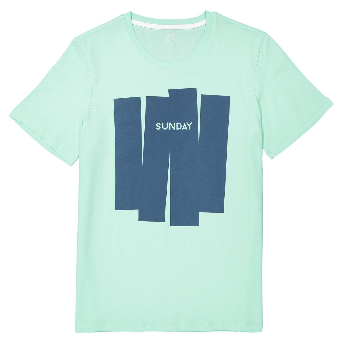 T-shirt de gola redonda, motivo à frente
