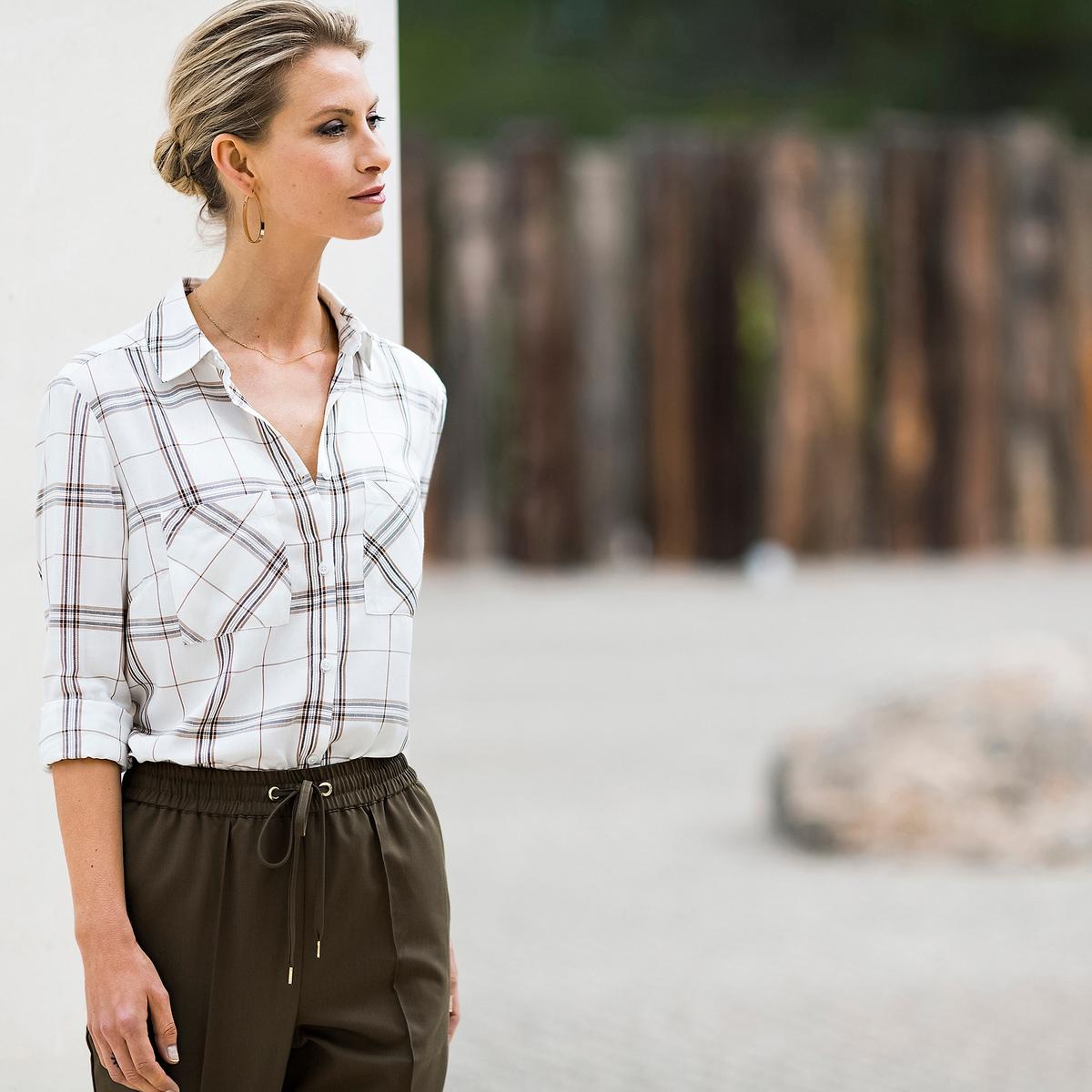 Imagen adicional de producto de Pantalón recto con cintura elástica detrás - Anne weyburn