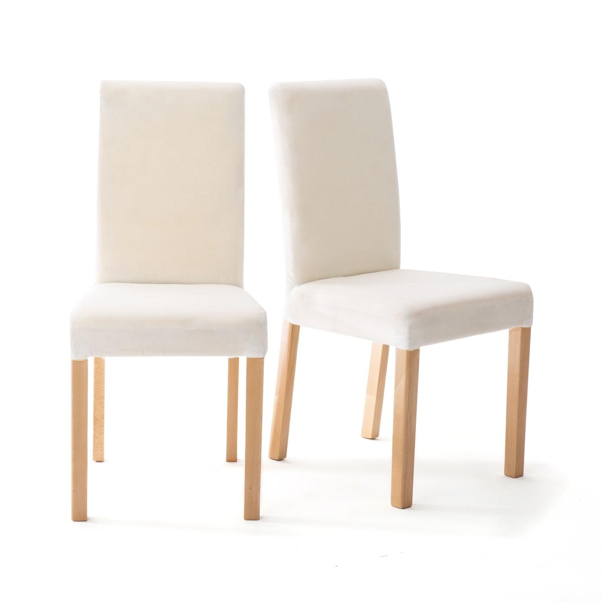 Комплект из 2 стульев, Domme. La Redoute La Redoute единый размер бежевый наволочка la redoute flooch 50 x 30 см бежевый