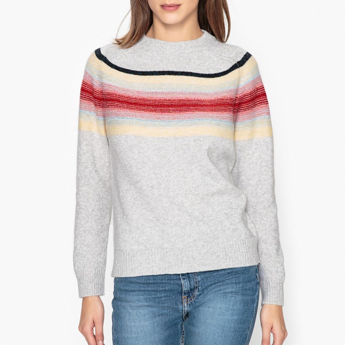 Пуловер в полоску из 100% шерсти BONBON