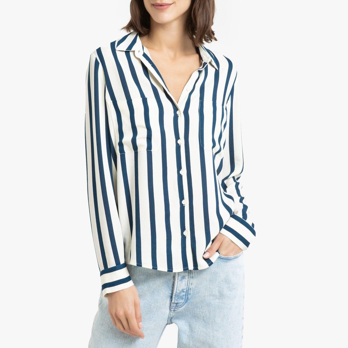 Chemise rayée à manches longues