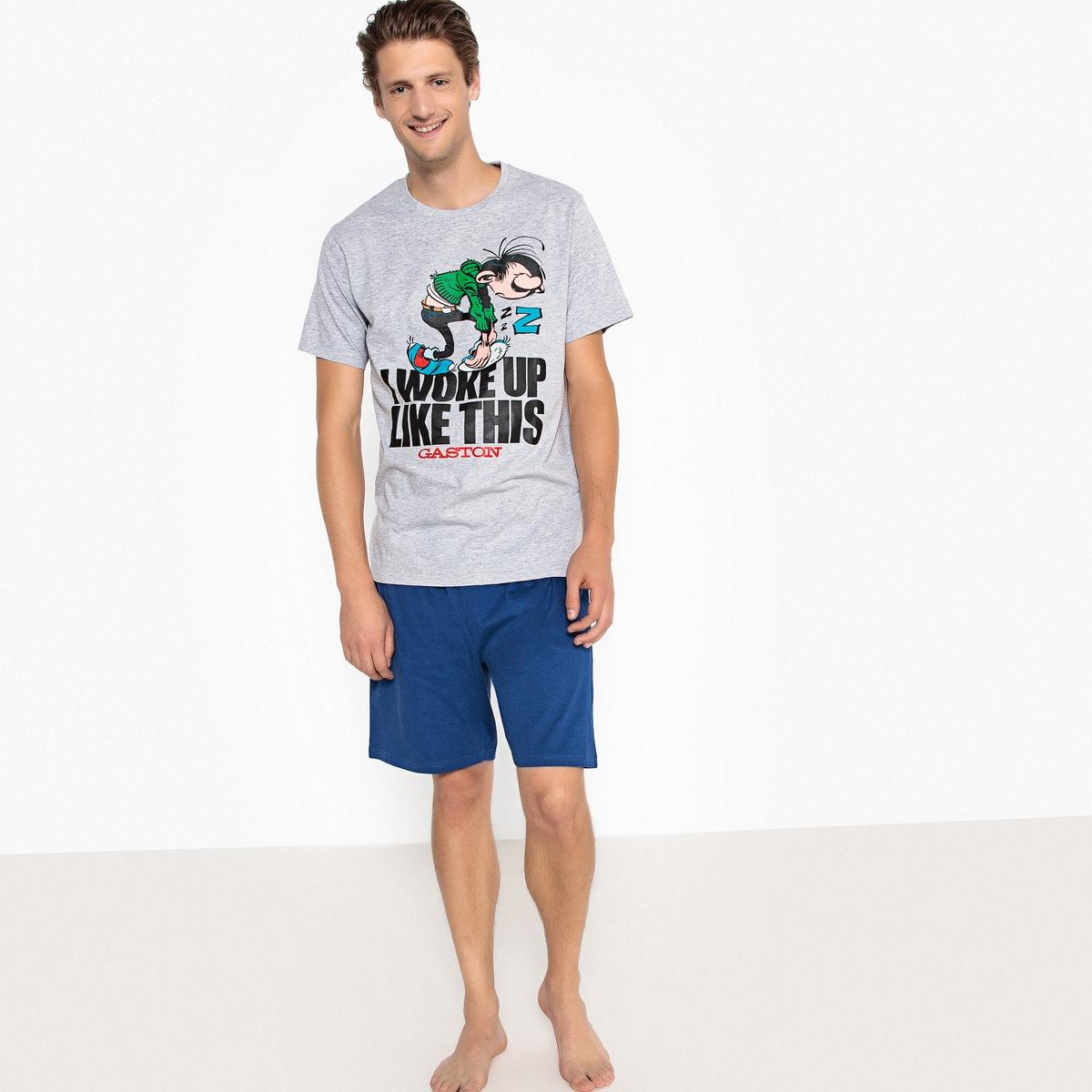 Пижама с шортами двухцветная GASTON LAGAFFE пижама с шортами с рисунком
