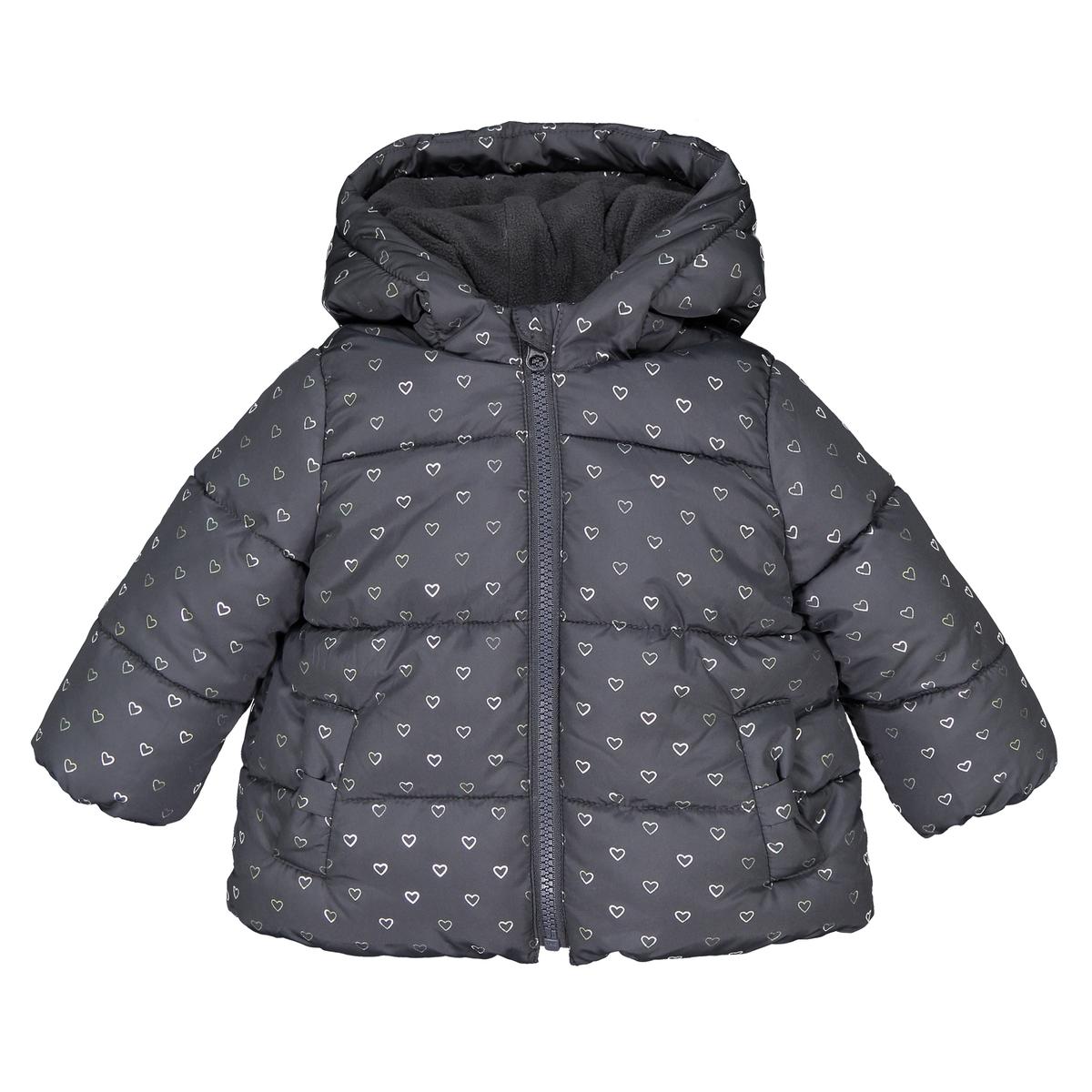 цена Куртка La Redoute Стеганая с утепленным капюшоном мес - лет 3 мес. - 60 см серый онлайн в 2017 году