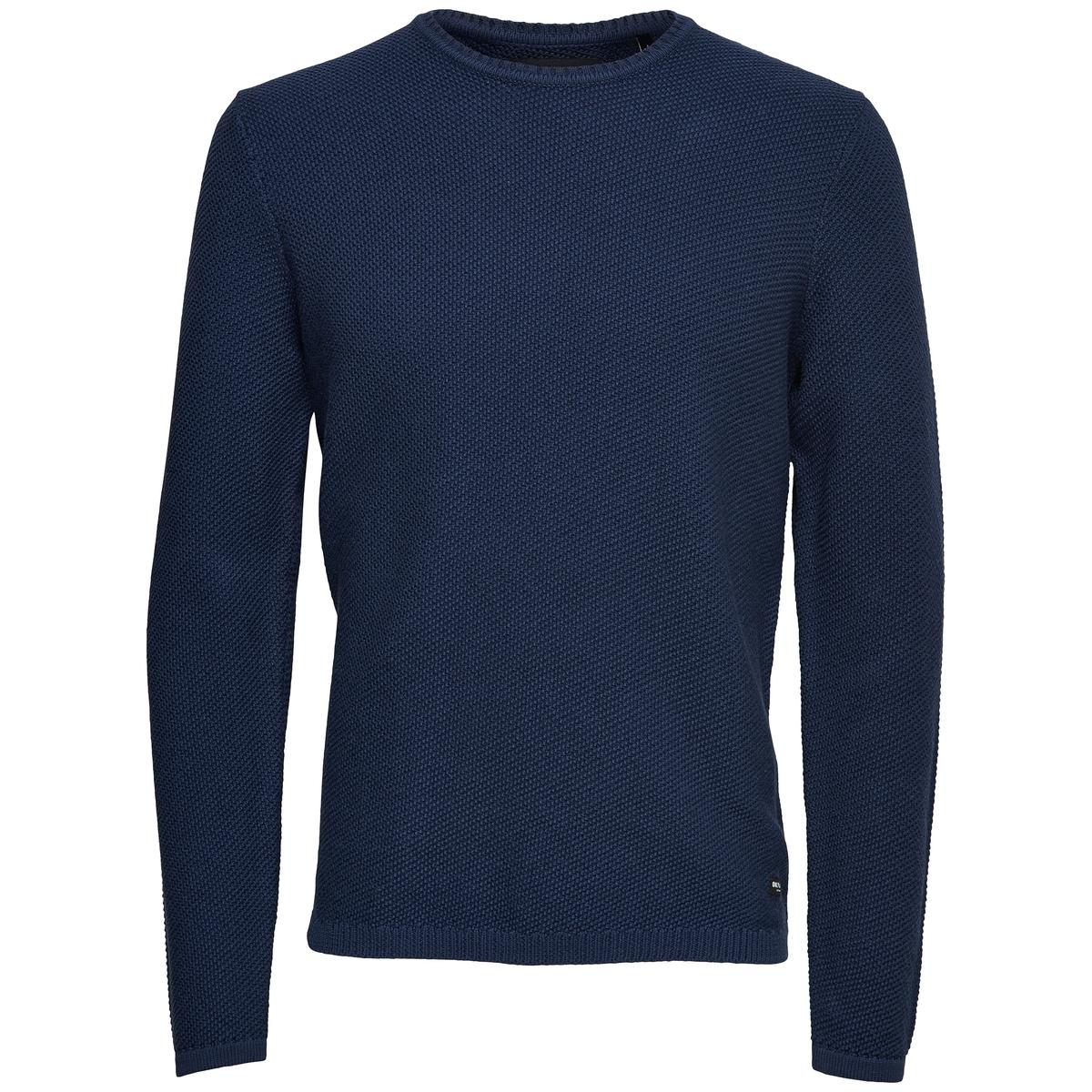 Пуловер из тонкого трикотажаОписание:Детали  •  Длинные рукава  •  Круглый вырез •  Тонкий трикотаж Состав и уход  •  100% хлопок  •  Следуйте советам по уходу, указанным на этикетке<br><br>Цвет: серый,синий морской,черный<br>Размер: XL.L