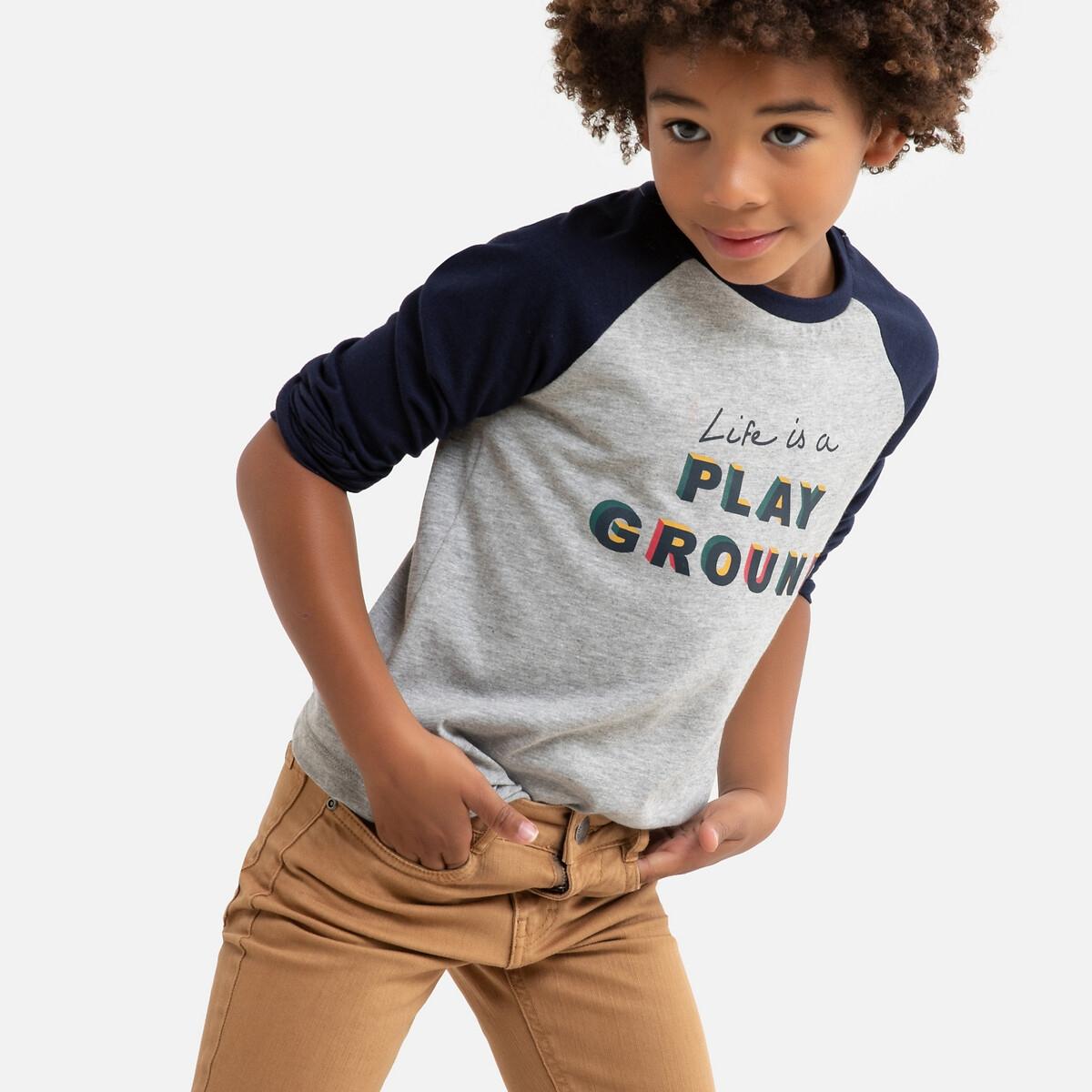 T-shirt manches longues imprimé devant 3-12 ans
