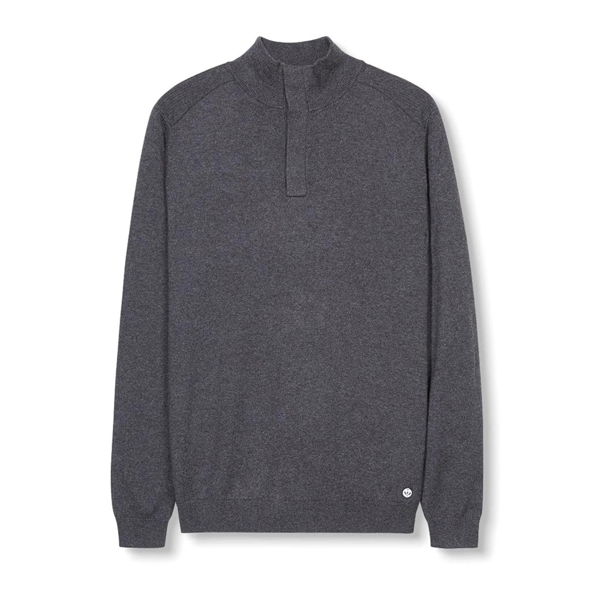 Пуловер из хлопка и шёлкаСостав и описание :Материал : 90% хлопка, 10% шелкаМарка : ESPRIT.<br><br>Цвет: антрацит<br>Размер: XL