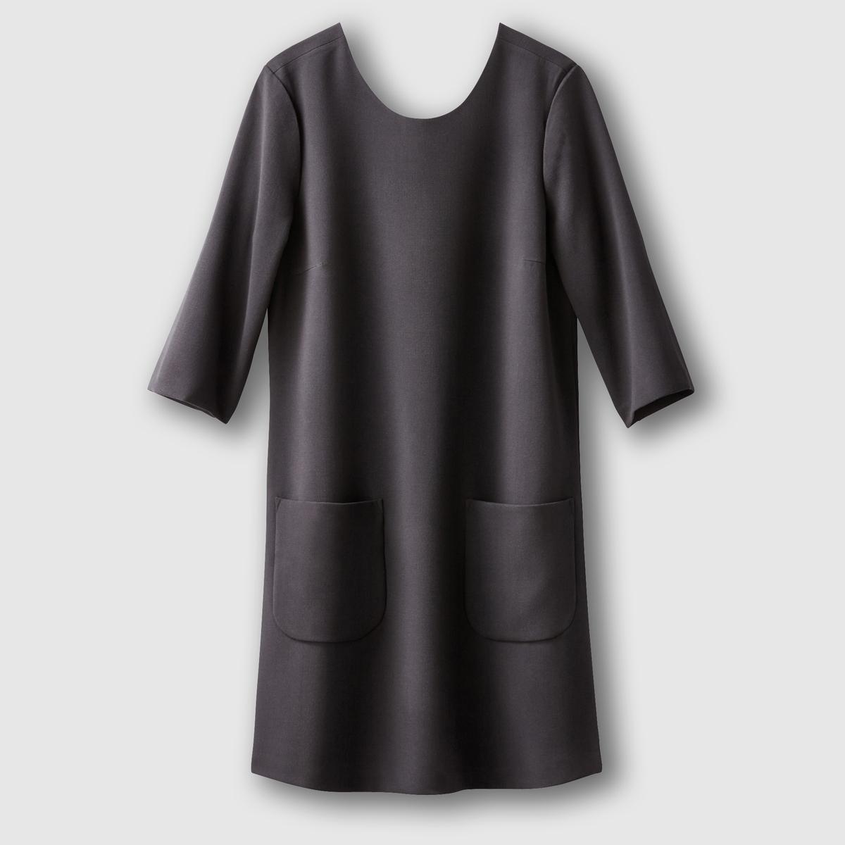 Платье короткое с короткими рукавамиСостав и деталиМатериал          63% полиэстера, 33% вискозы, 4% эластана Марка VERO MODA.               Уход     Следуйте рекомендациям по уходу, указанным на этикетке изделия<br><br>Цвет: черный