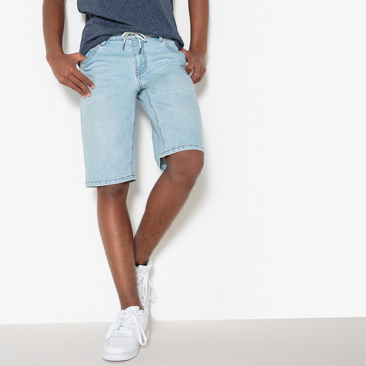 Бермуды джинсовые с вытертым эффектом 10-16 лет