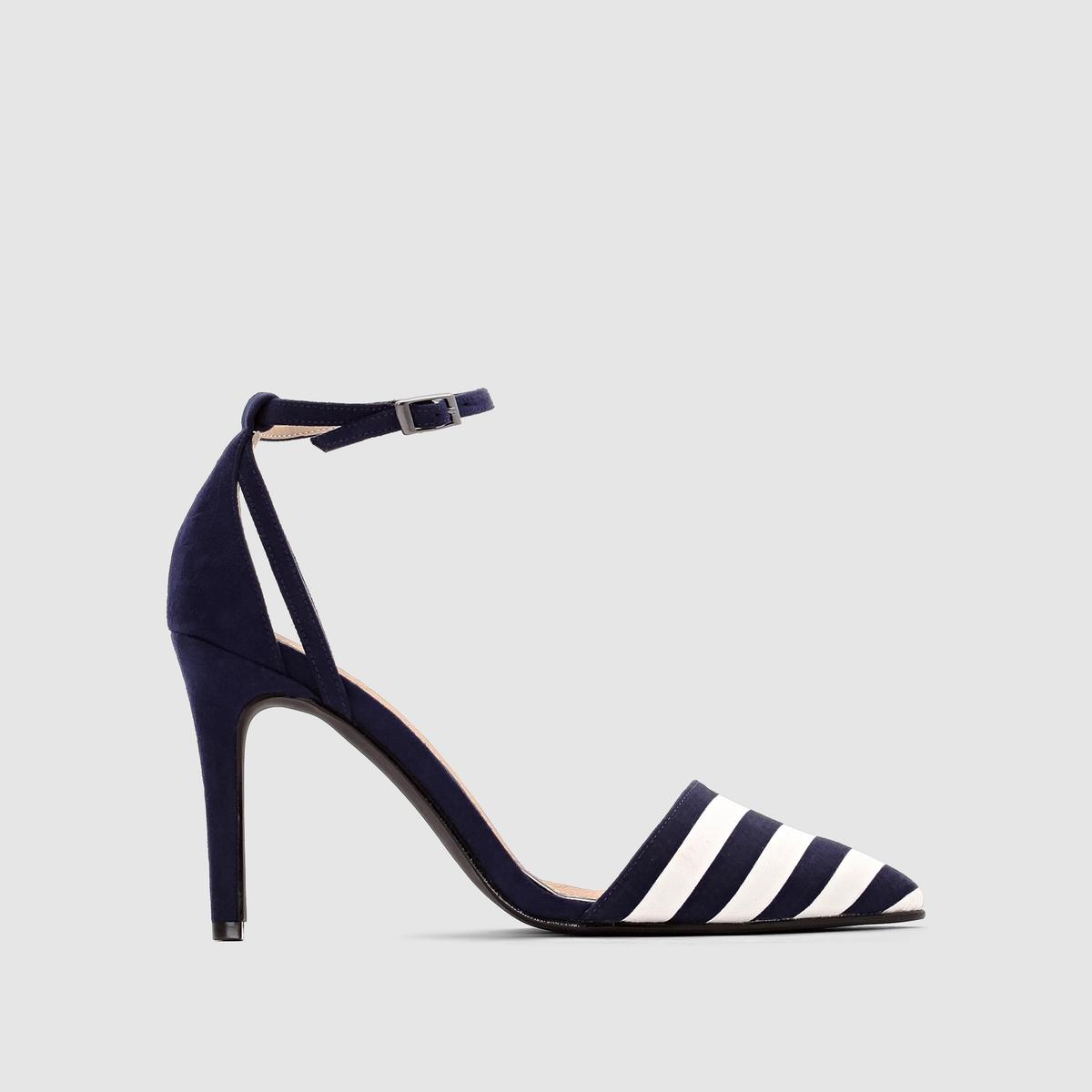 Туфли на высоком каблукеВерх : текстиль и синтетика      Подкладка : синтетика   Стелька : кожа   Подошва : из эластомера   Высота каблука : 10 см Преимущества : Туфли на высоком каблуке, элегантность в каждой детали.<br><br>Цвет: белый/черный в полоску<br>Размер: 41