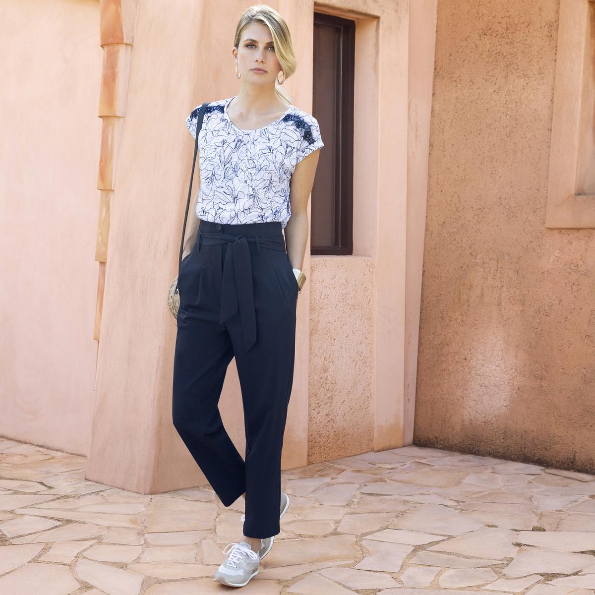 Imagen principal de producto de Pantalón recto de pinzas, talle alto - Anne weyburn