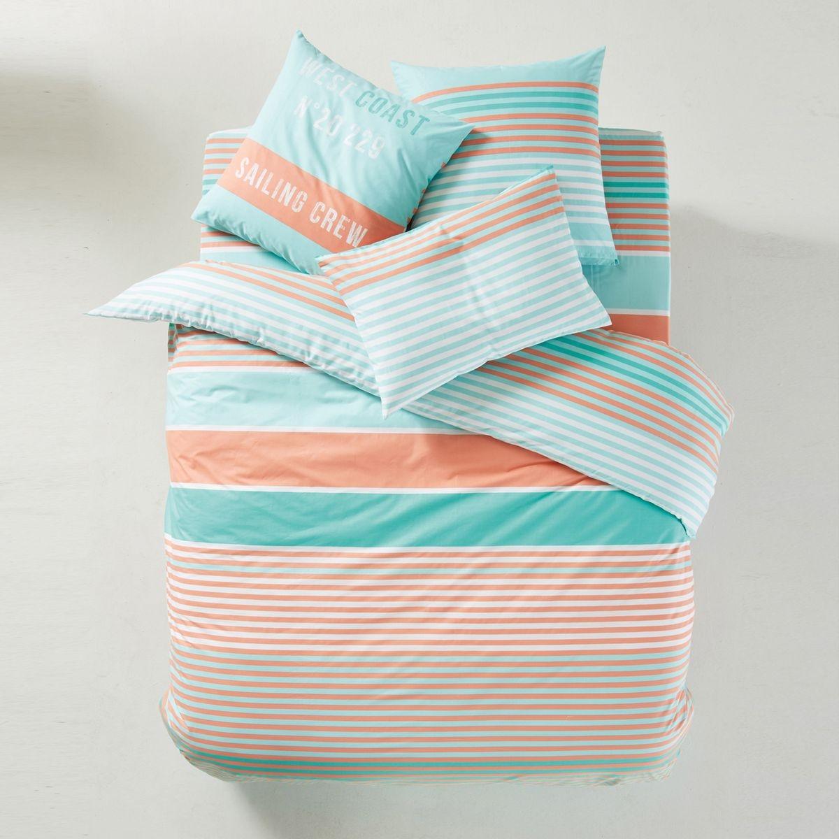 vente housse de couette rayures bleu tritoo maison et jardin. Black Bedroom Furniture Sets. Home Design Ideas