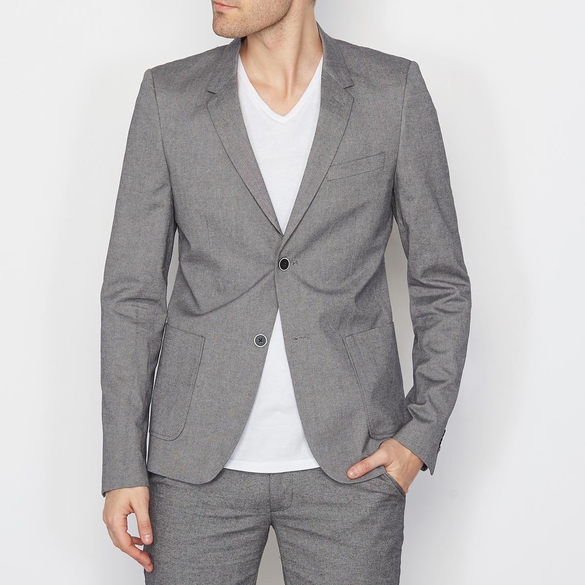 Блейзер с карманами, рукава с пуговицами SOFT GREY
