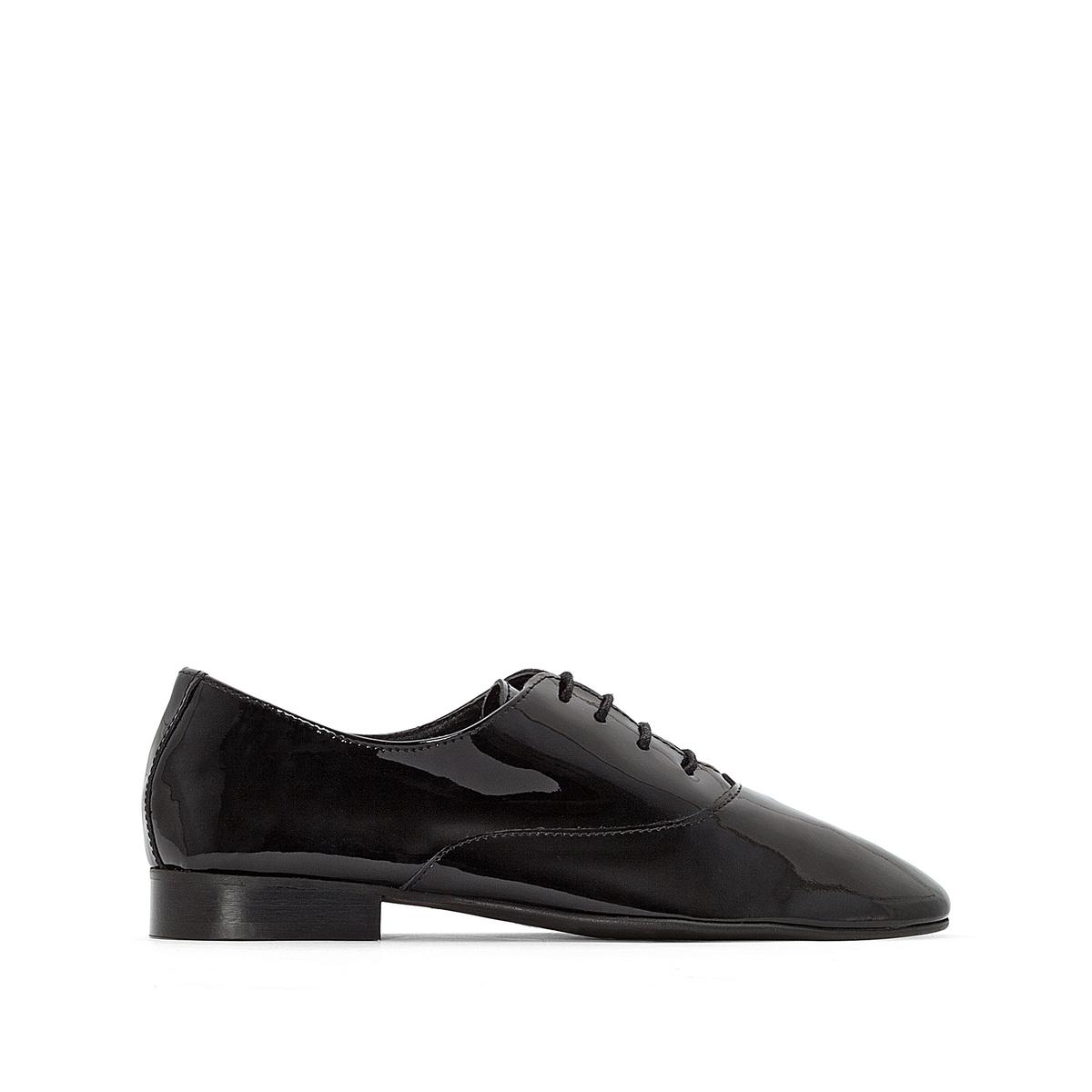 Ботинки-дерби из лакированной кожи ботинки дерби из мягкой кожи takarika