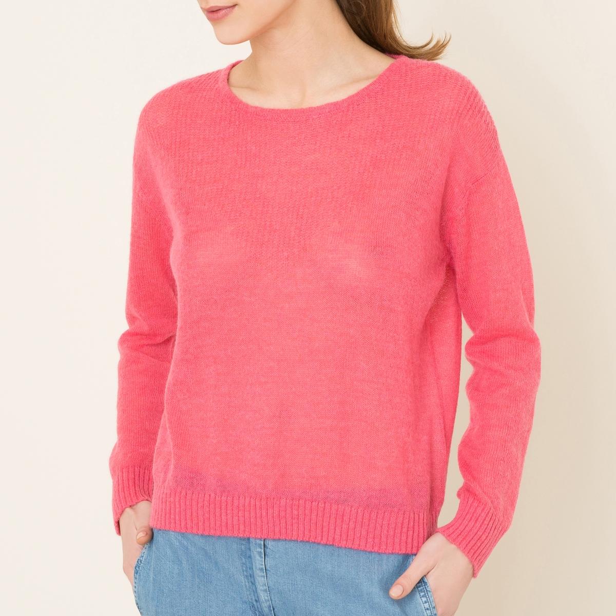 Пуловер с круглым вырезом NASHСостав и описание   Материал : 44% нейлона, 42% шерсти, 14% альпаки    Марка : LEON AND HARPER<br><br>Цвет: розовый<br>Размер: M