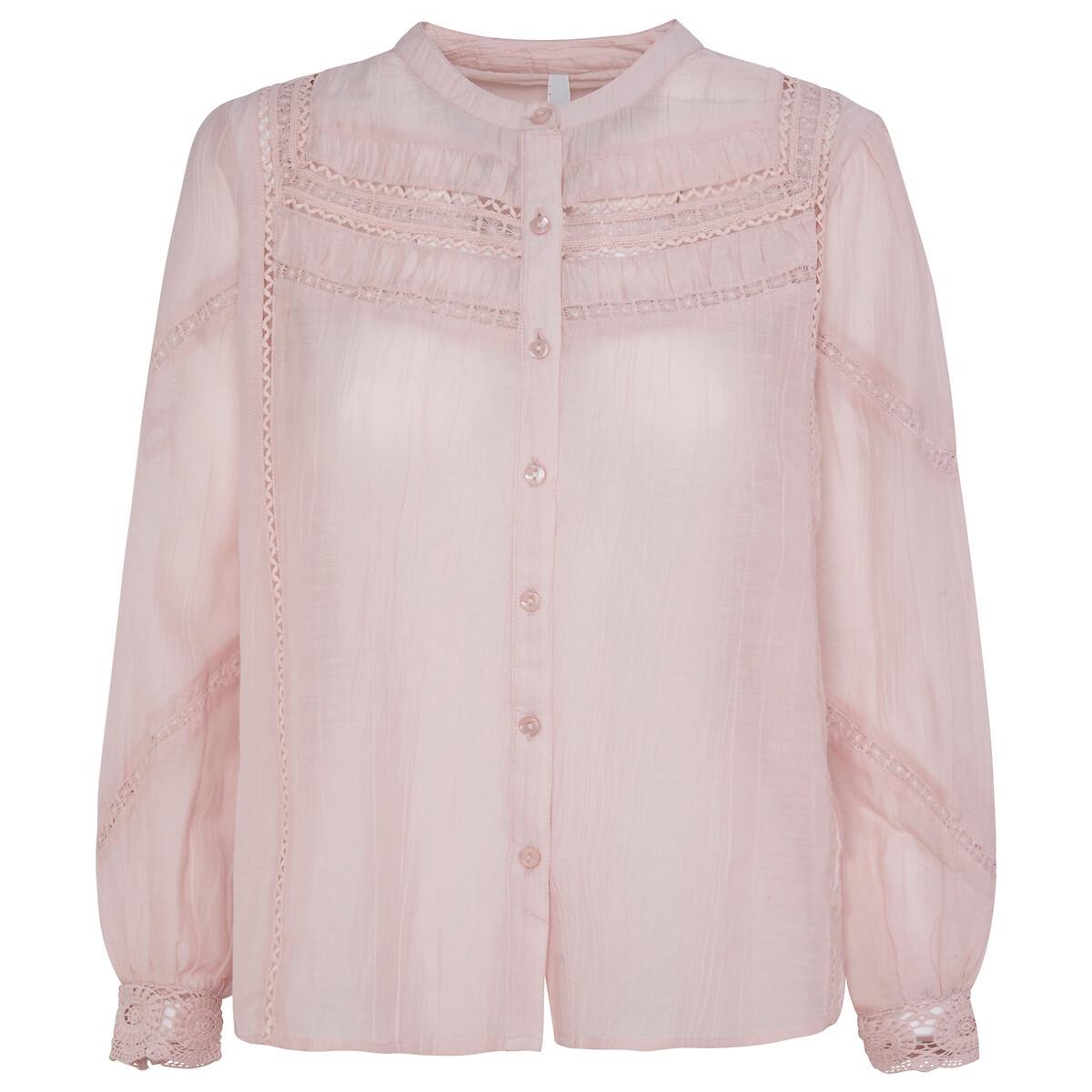 Blusa abotonada con detalles bordados