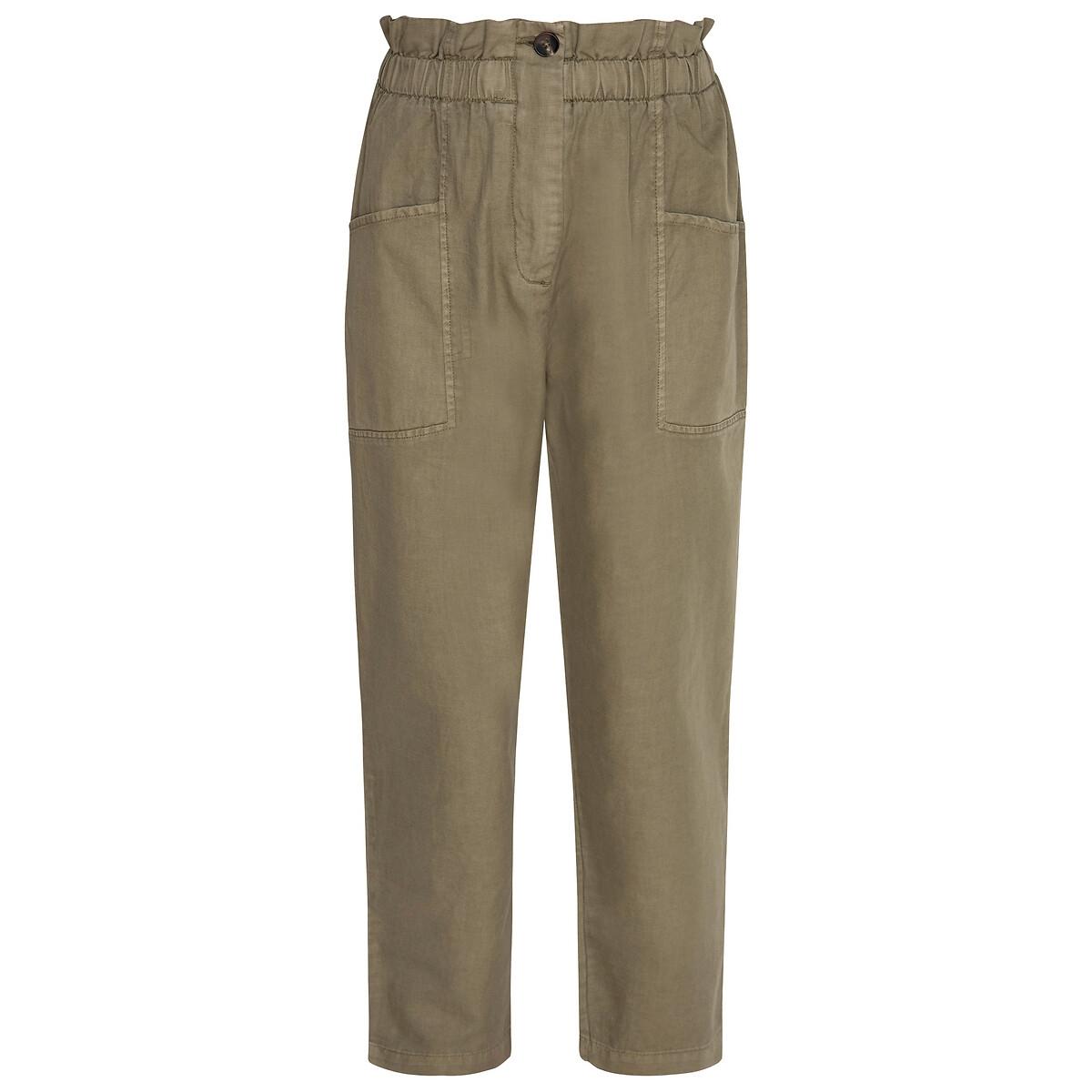 Pantalón ancho, talle alto