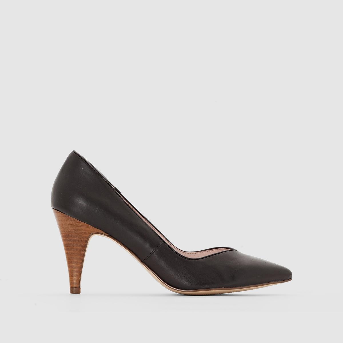 Туфли кожаныеКрасивая и современная форма, из прекрасной кожи, на контрастном каблуке, добавляющим элемент трендового дизайна - все это туфли, которые легко носить и сочетать, на рабочую встречу или на выход!<br><br>Цвет: черный<br>Размер: 36