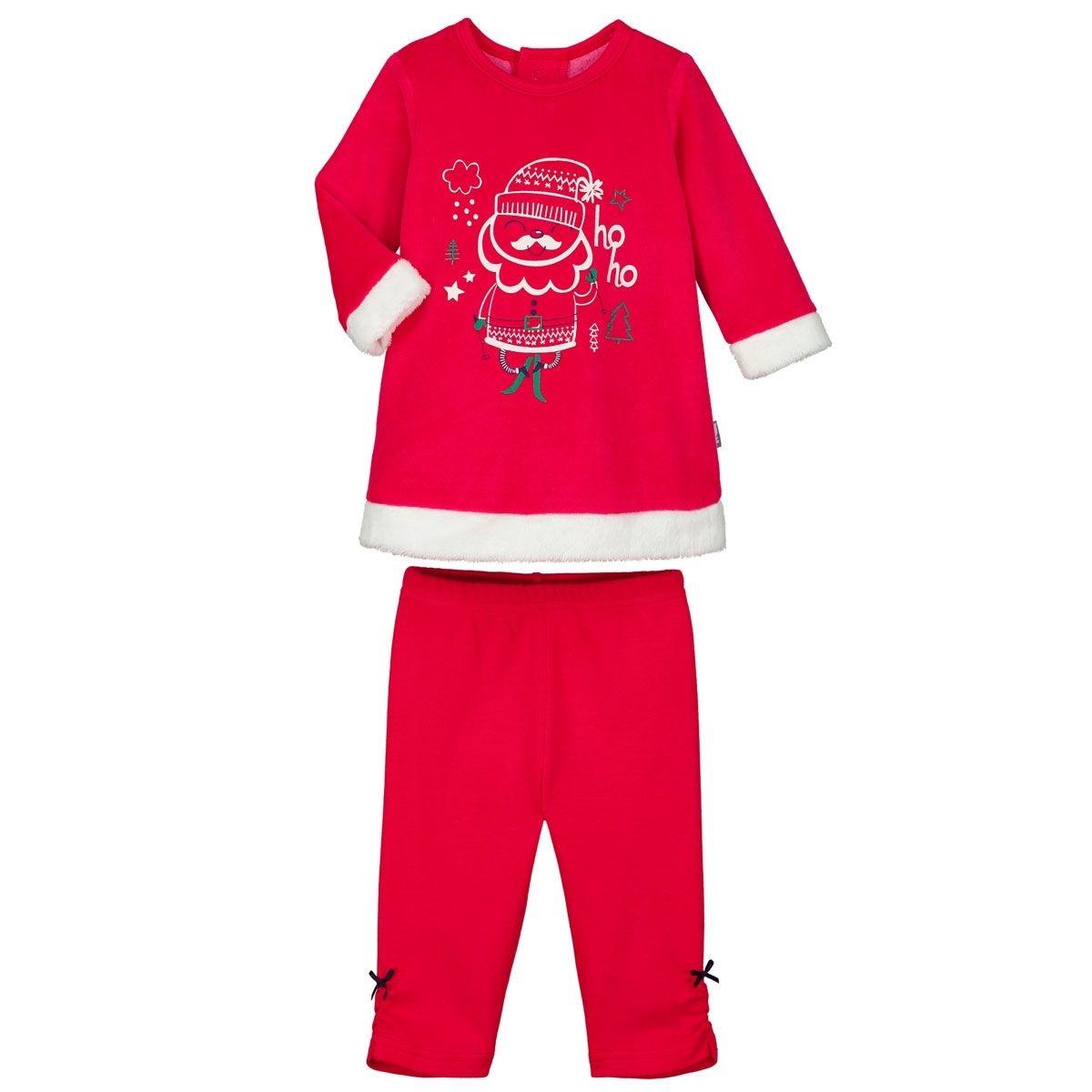 Pyjama bébé 2 pièces Robe + Legging Ho Ho